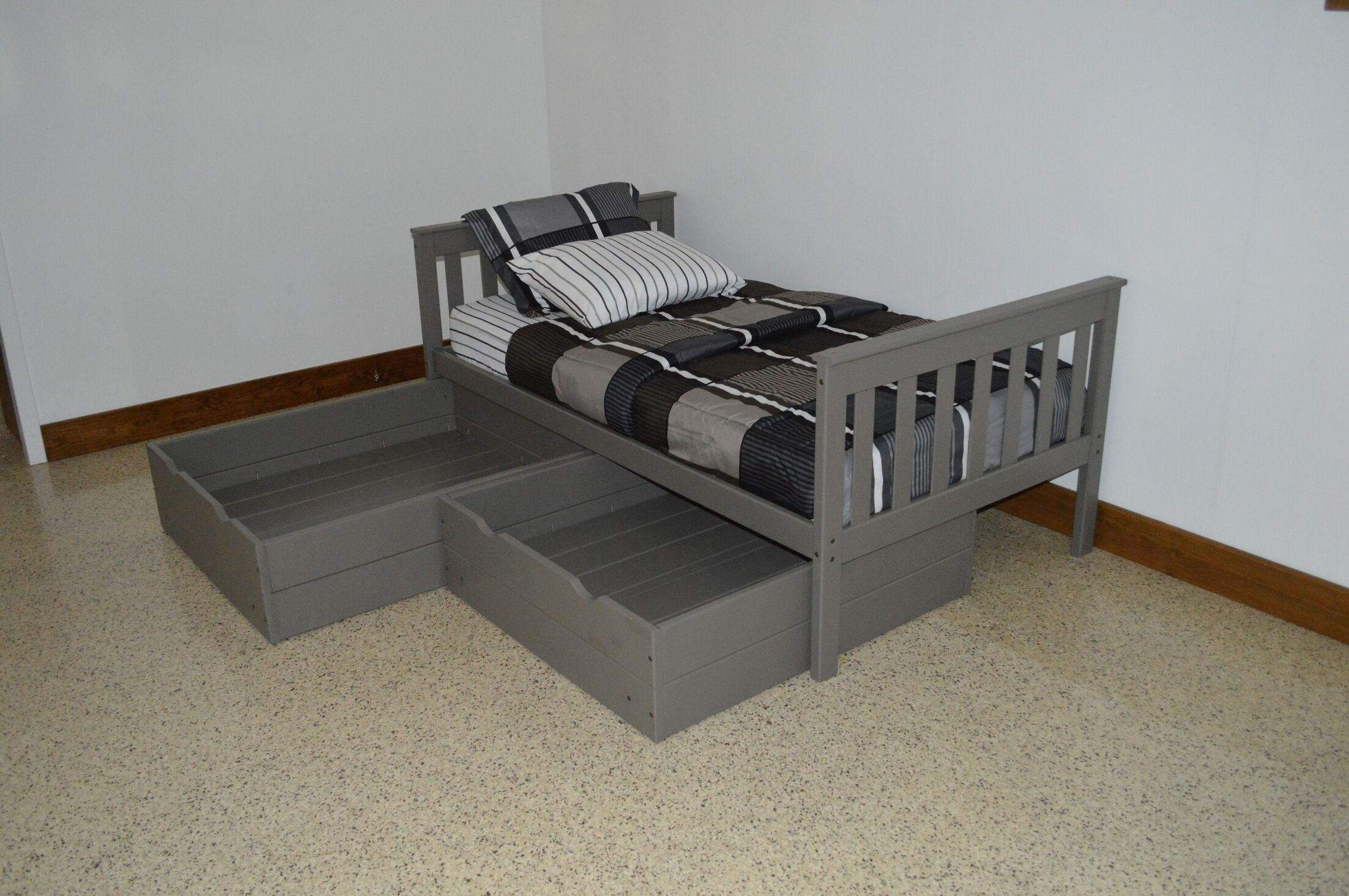 2 Piece Underbed Storage Drawer Set Color: Olive Gray, Size: Full