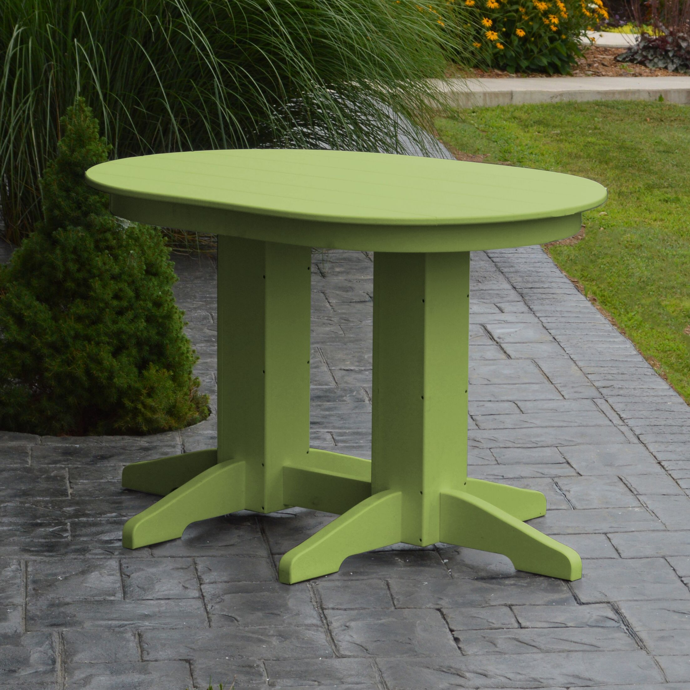Nettie Dining Table Color: Lime Green, Table Size: 48