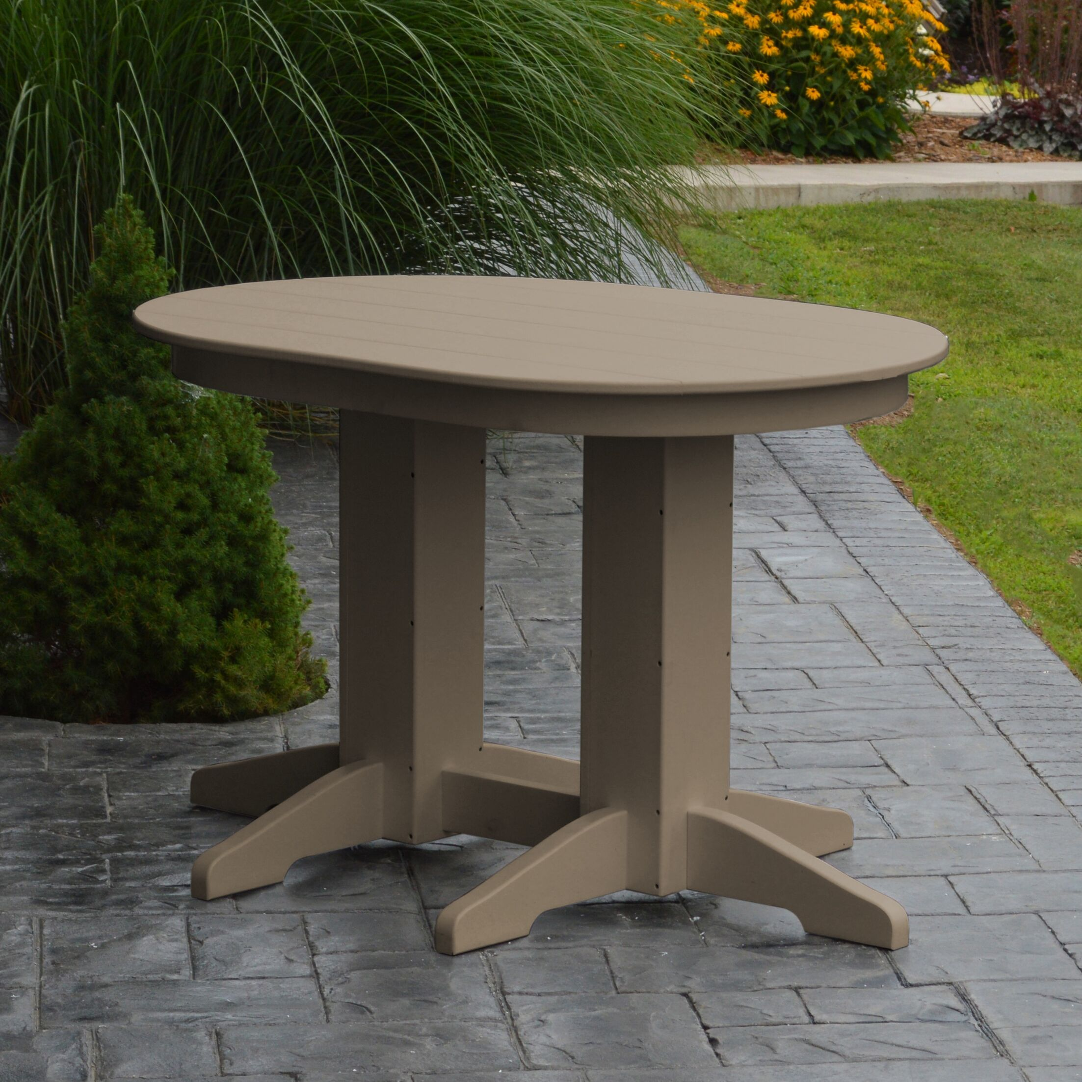 Nettie Dining Table Color: Weathered Wood, Table Size: 60