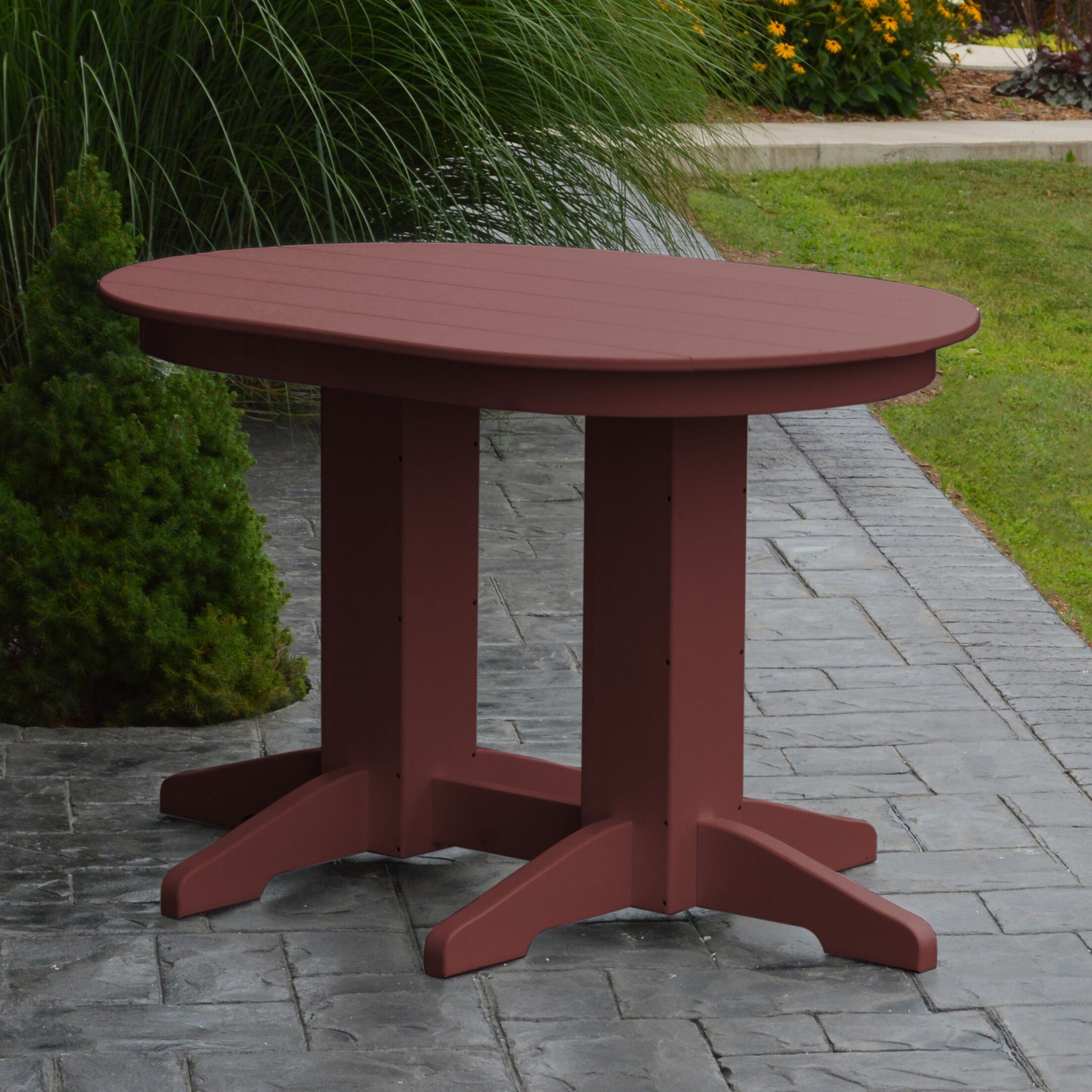 Nettie Dining Table Color: Cherrywood, Table Size: 60