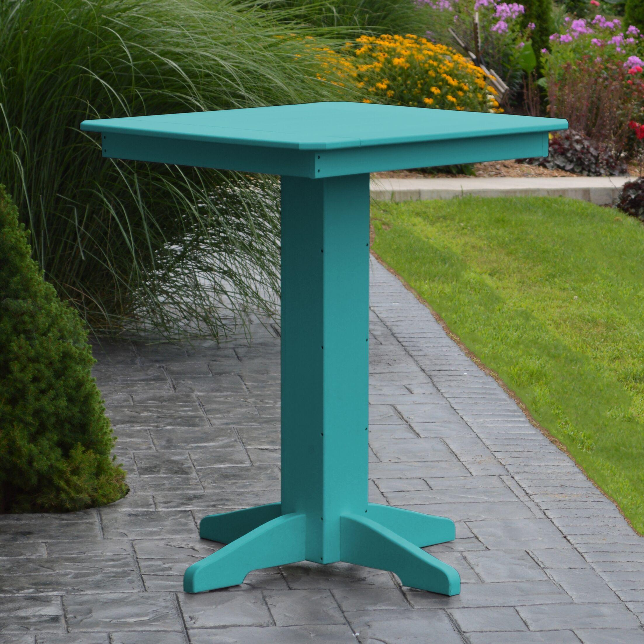 Nettie Bar Table Color: Aruba Blue, Table Size: 33