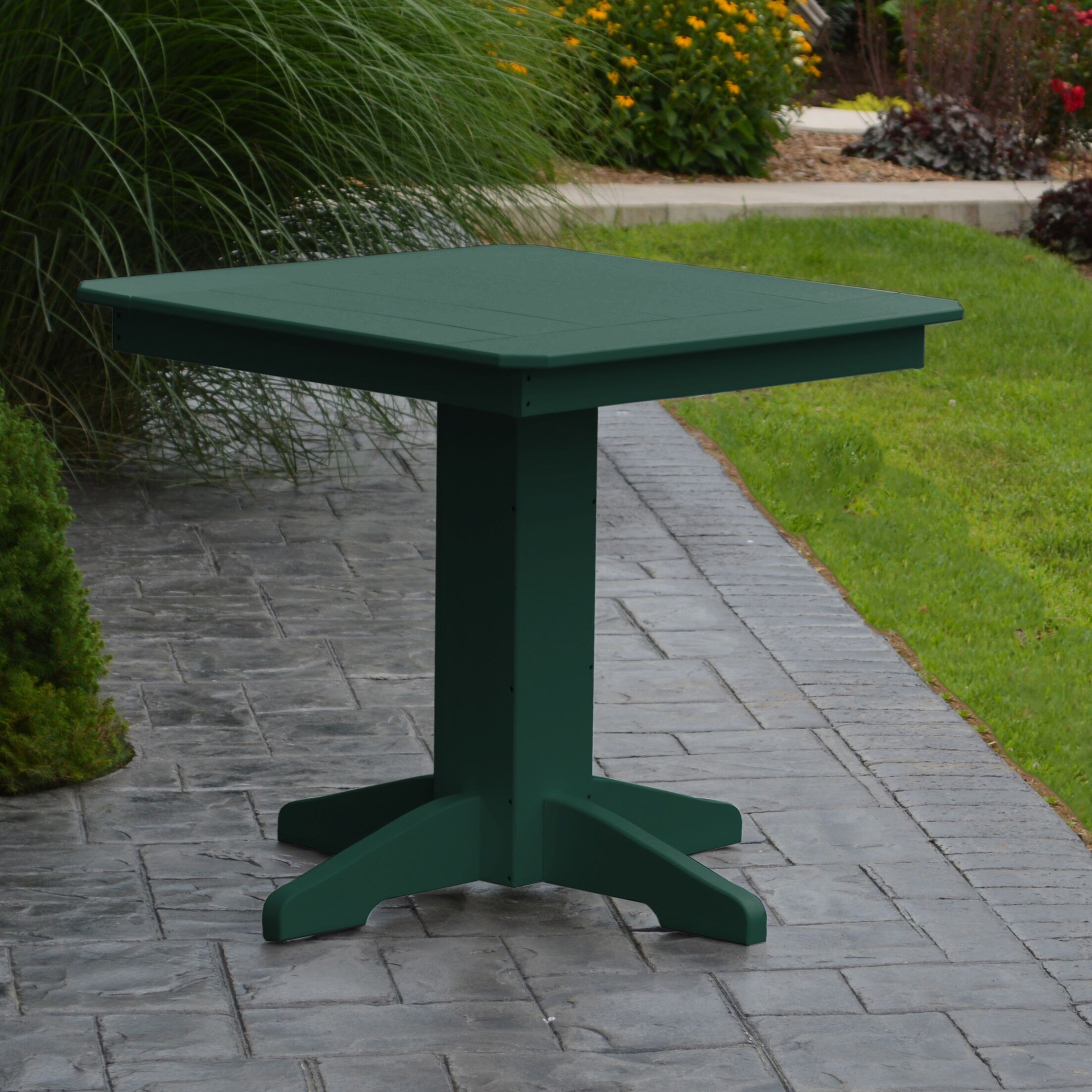 Nettie Dining Table Color: Turf Green, Table Size: 33