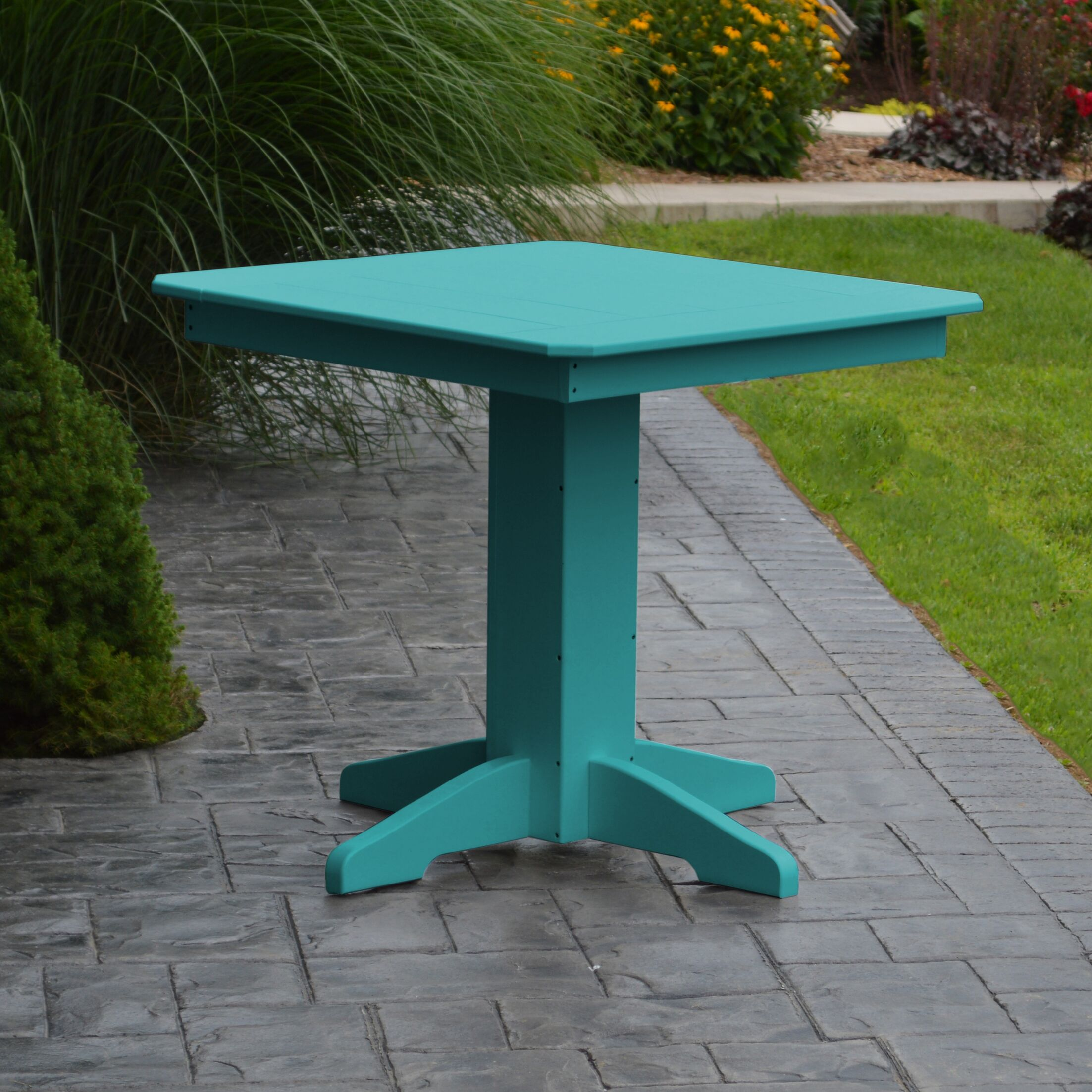 Nettie Dining Table Color: Aruba Blue, Table Size: 33