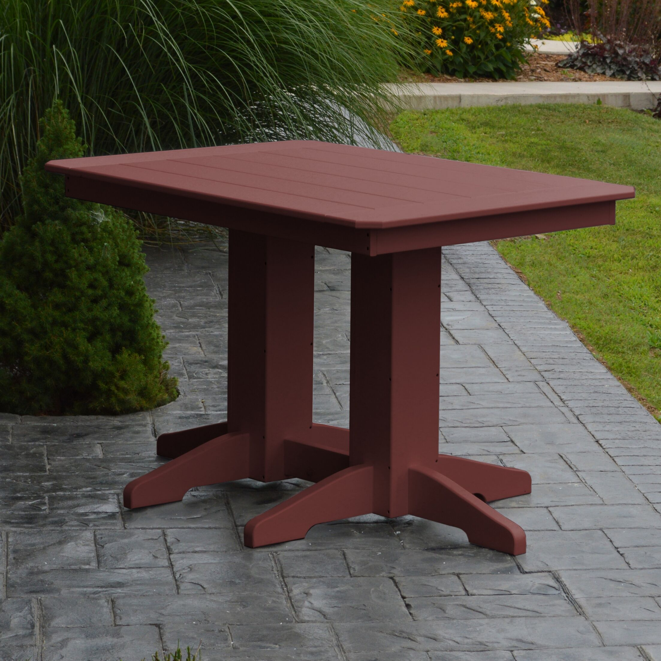Nettie Dining Table Color: Cherrywood, Table Size: 48