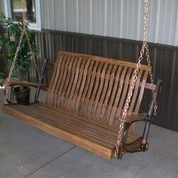 Hickory Porch Swing Color: Walnut, Size: 30