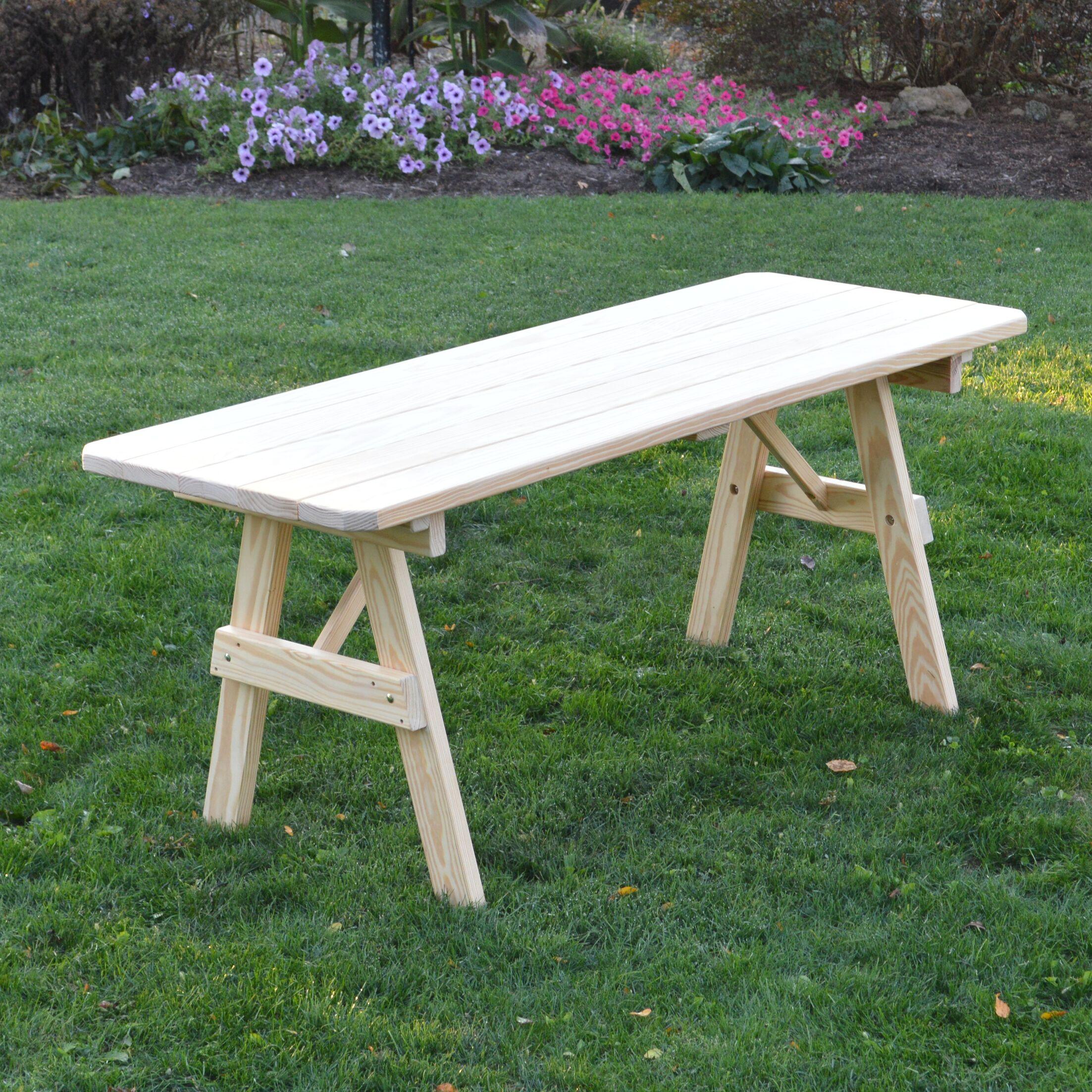 Varick Pine Picnic Table Finish: Unfinished