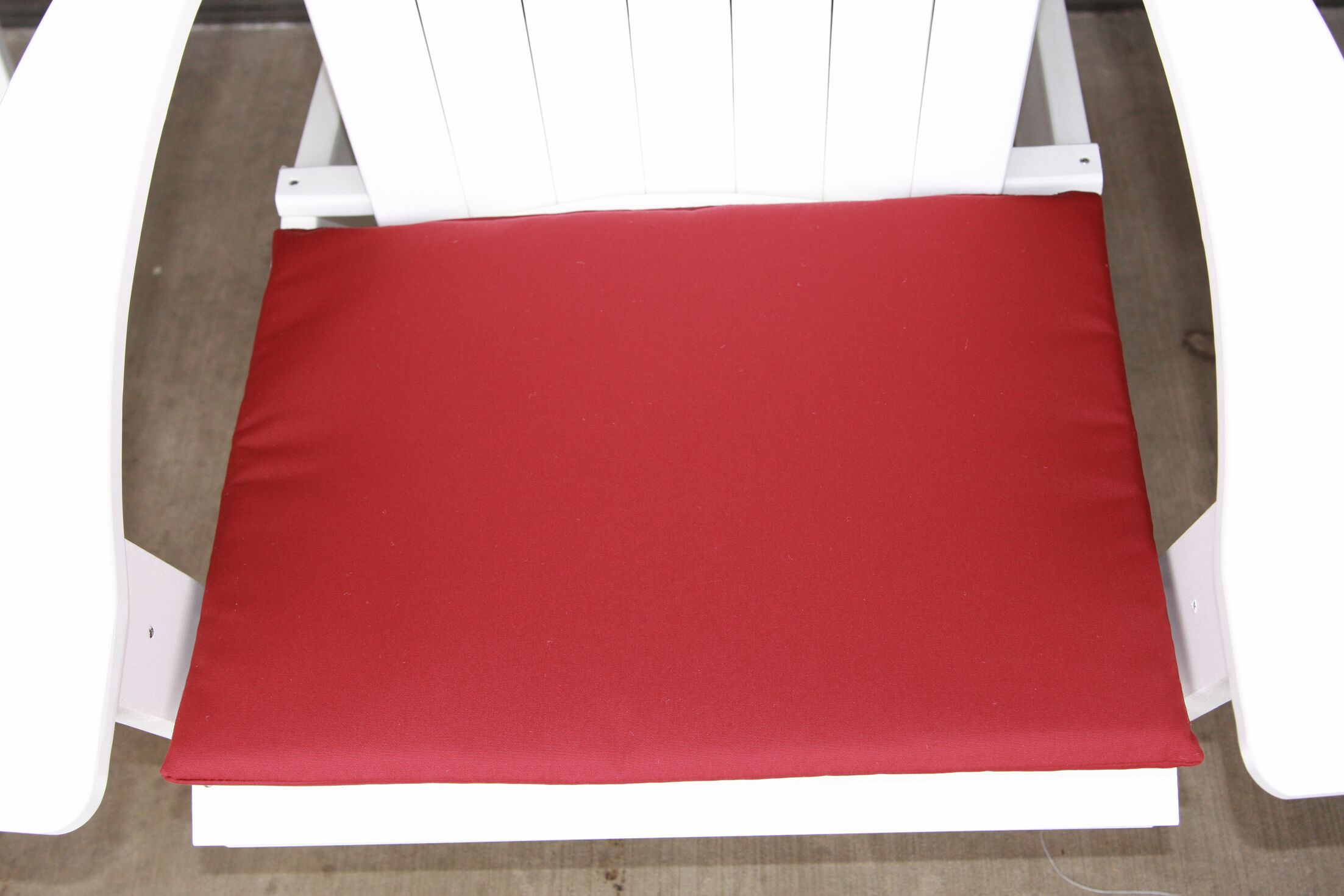 Indoor/Outdoor Adirondack Chair Cushion Fabric: Burgundy, Size: 22