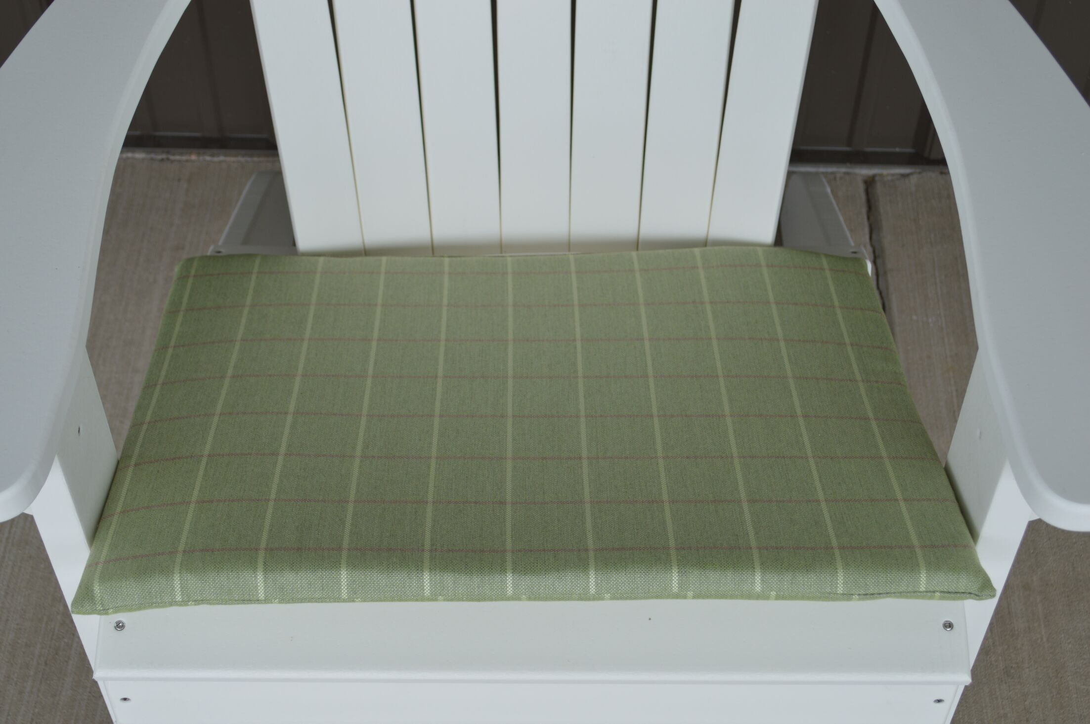 Striped Fabric Indoor/Outdoor Adirondack Chair Cushion Fabric: Green, Size: 22