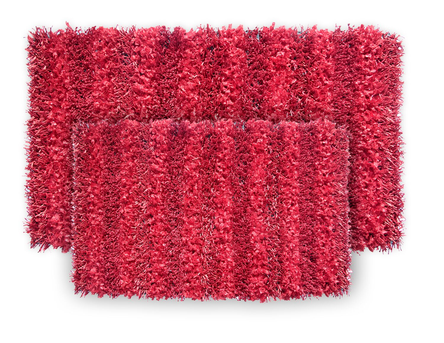 SeaBreeze 2 Piece Hand-Woven Red Novelty Rug Set