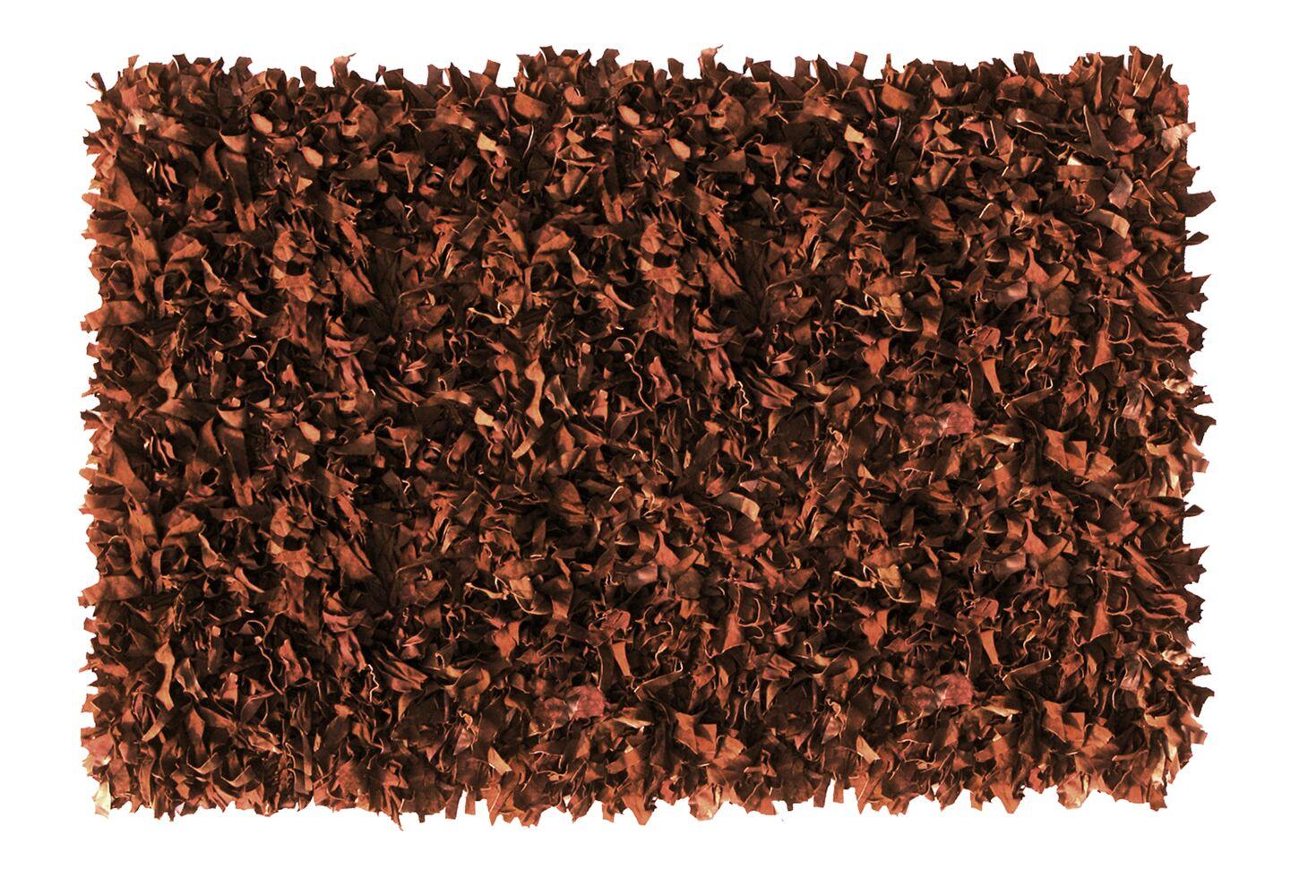 Handmade Brown Area Rug Rug Size: Rectangle 8' x 10'