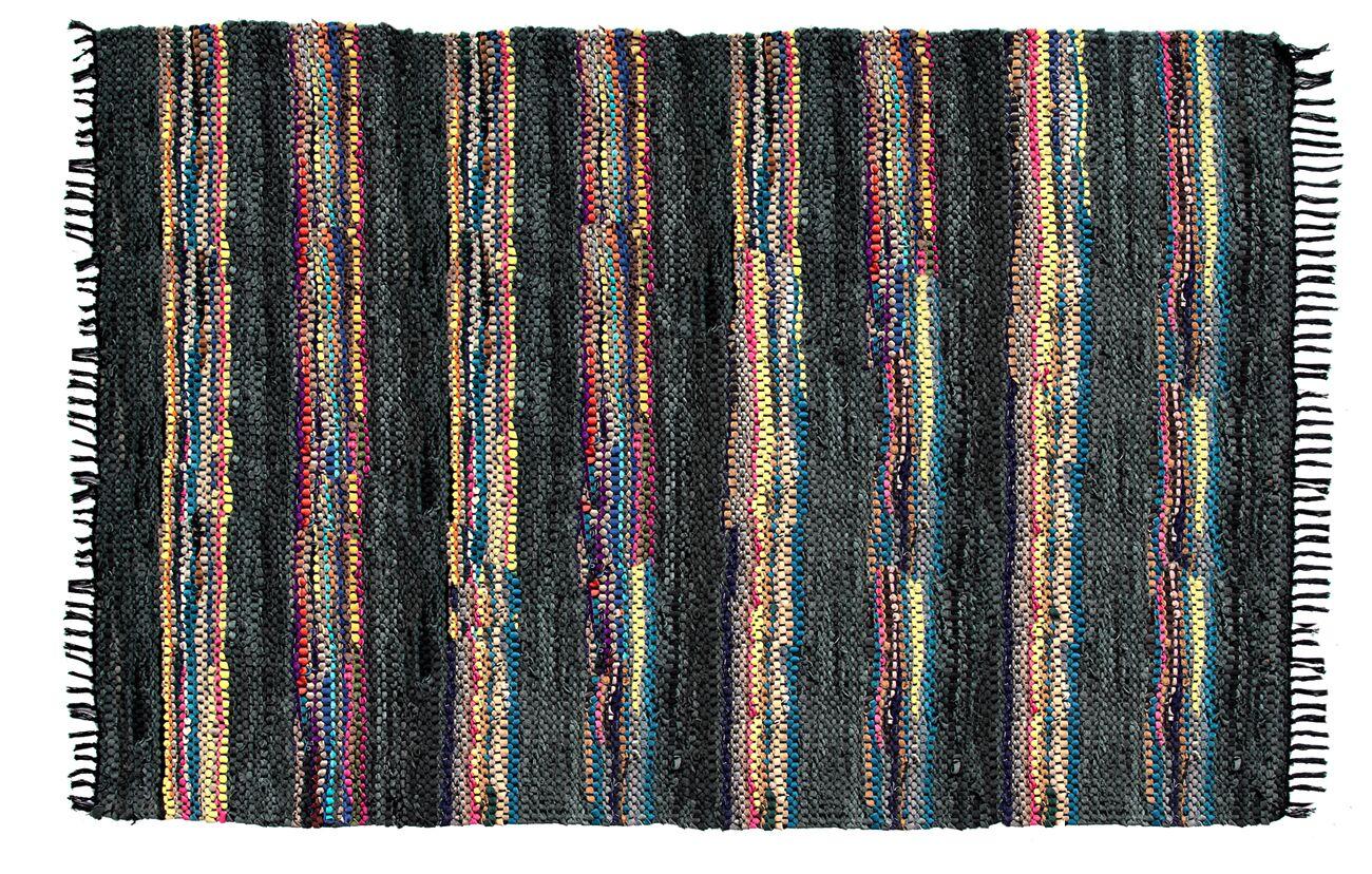 Handmade Broadway Black Area Rug Rug Size: Round 4'11