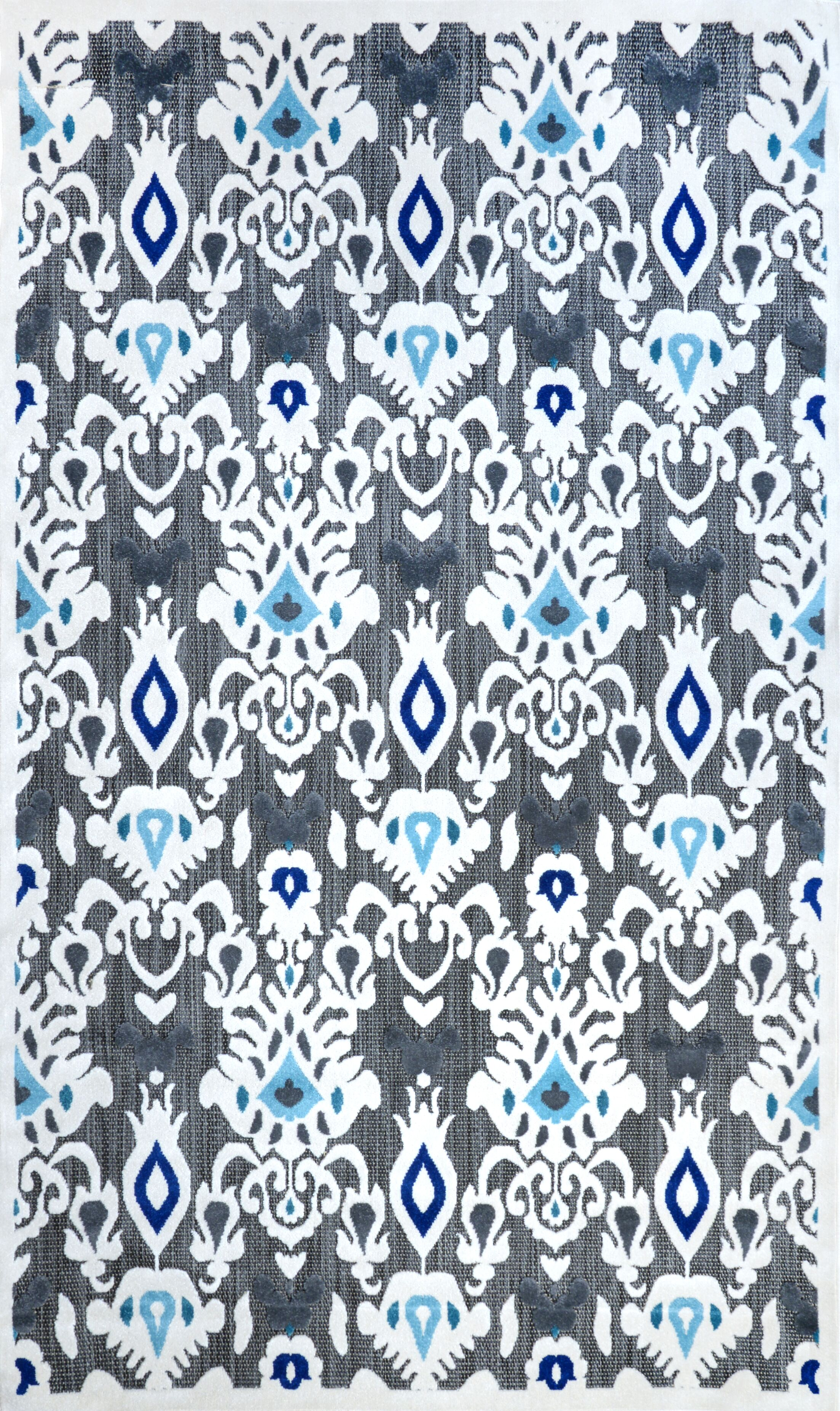 Ikat Cranebrook Machine Made Gray/Blue Outdoor Area Rug Rug Size: Rectangle 5' x 8'