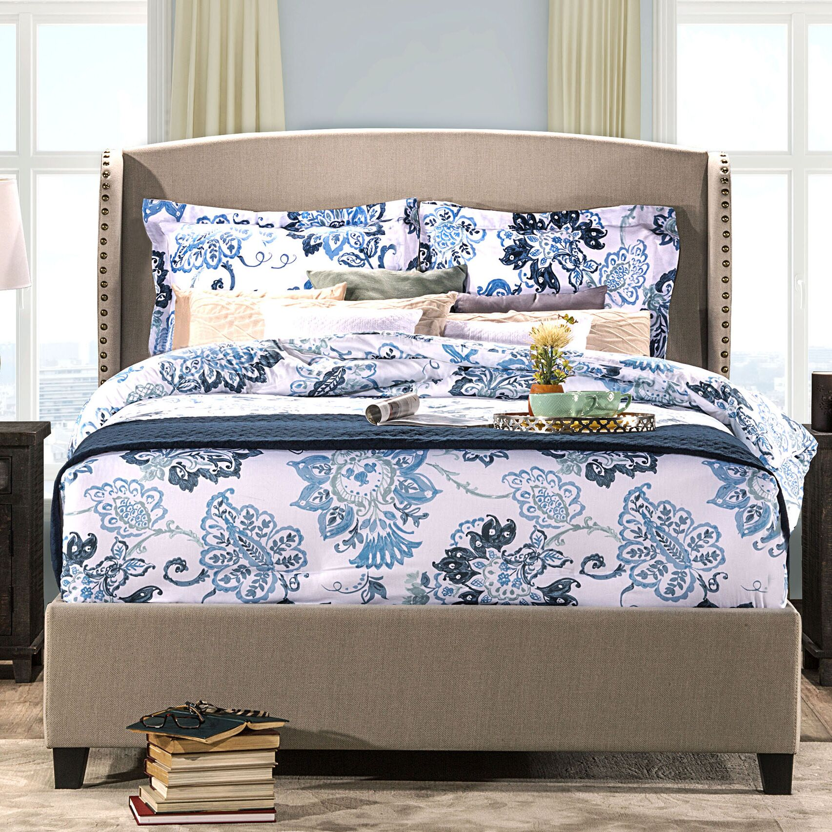 Mabrey Upholstered Panel Bed Size: King