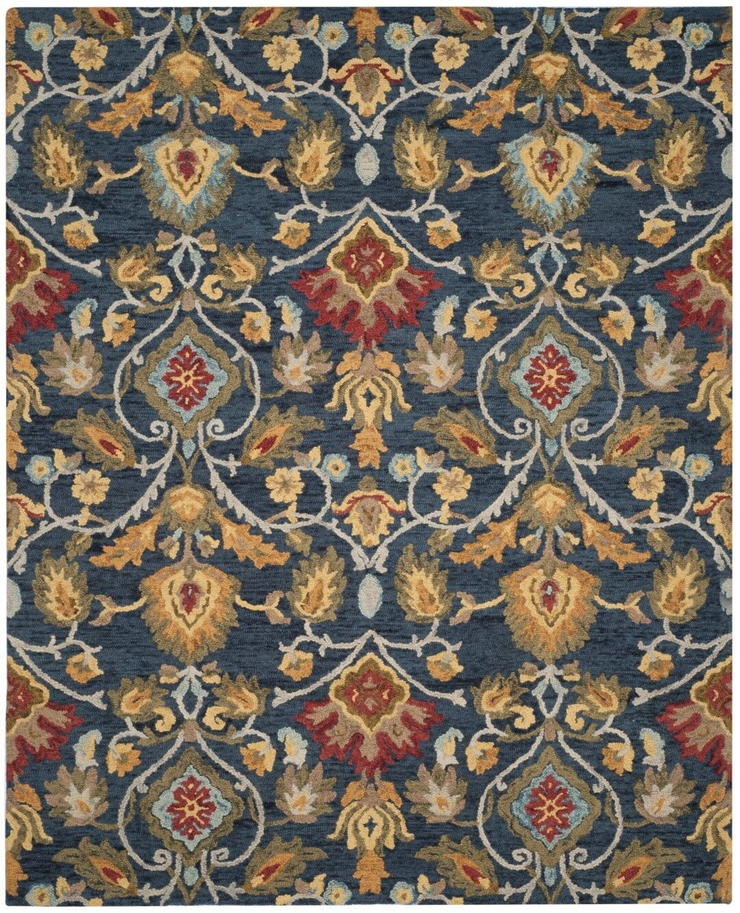 Elford Hand-Tufted Wool Blue/Red/Green Area Rug Rug Size: Rectangle 8' x 10'