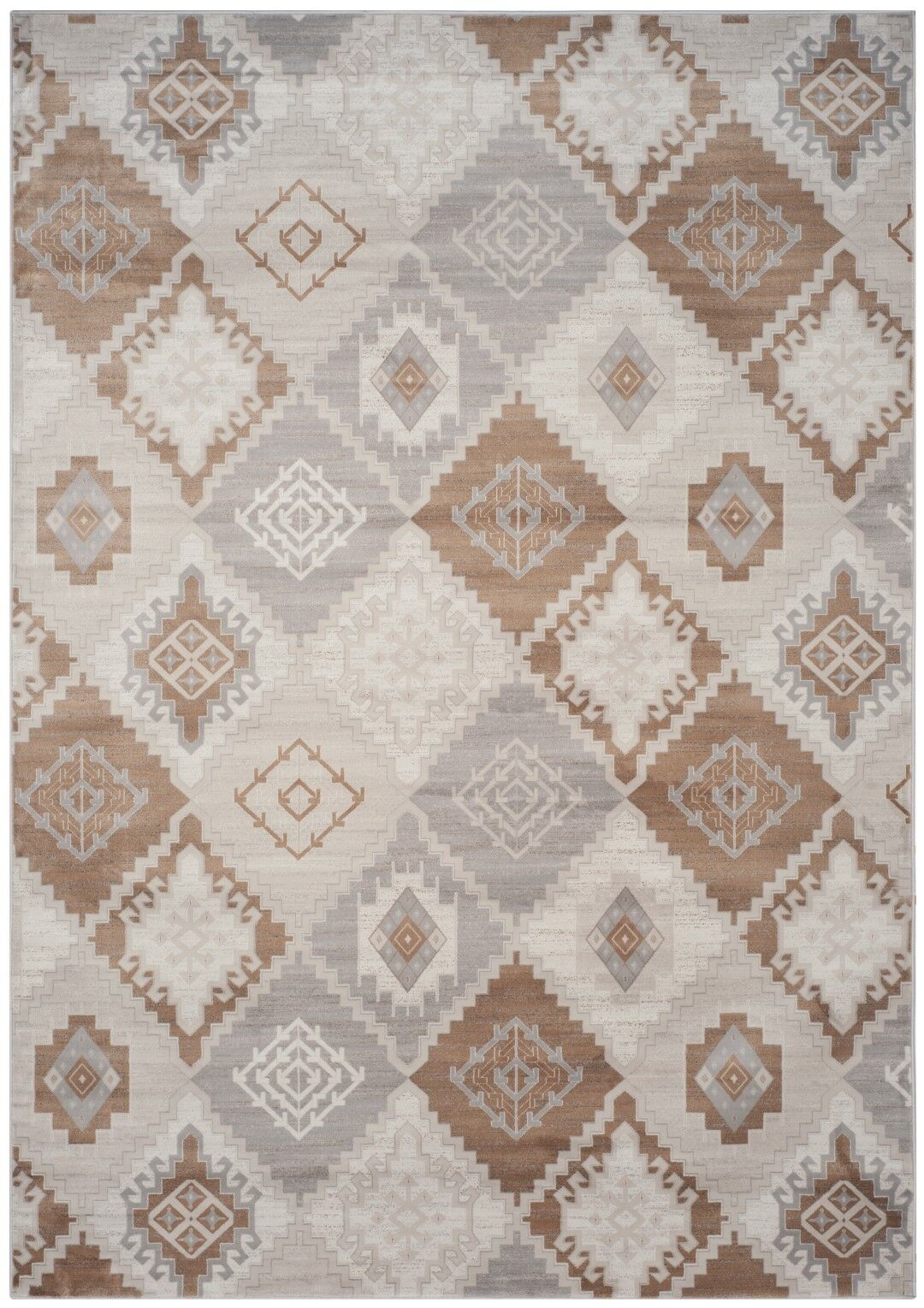 Abrahamic Cream / Camel Area Rug Rug Size: Rectangle 4' x 5'7