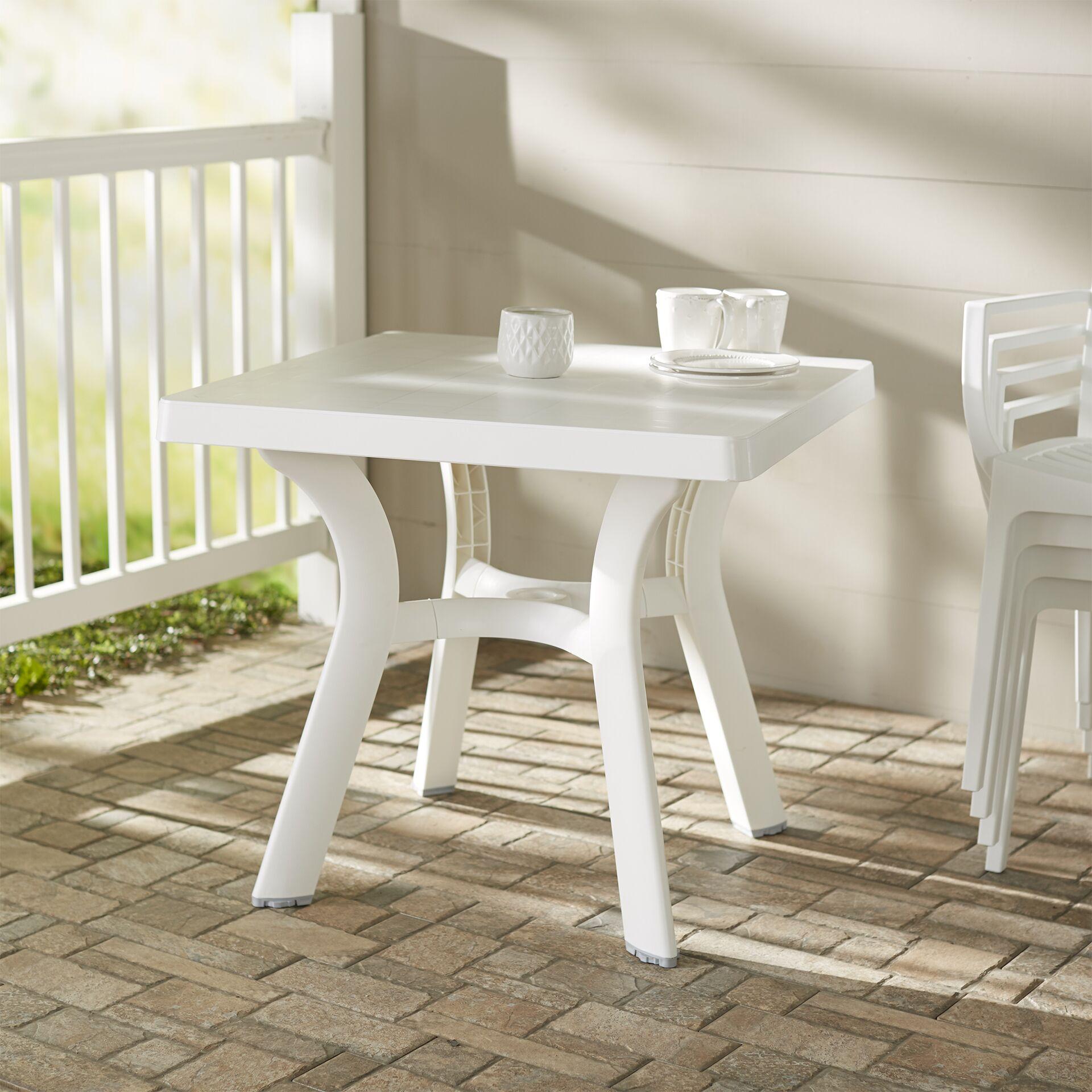 Snake River Square Dining Table Finish: White