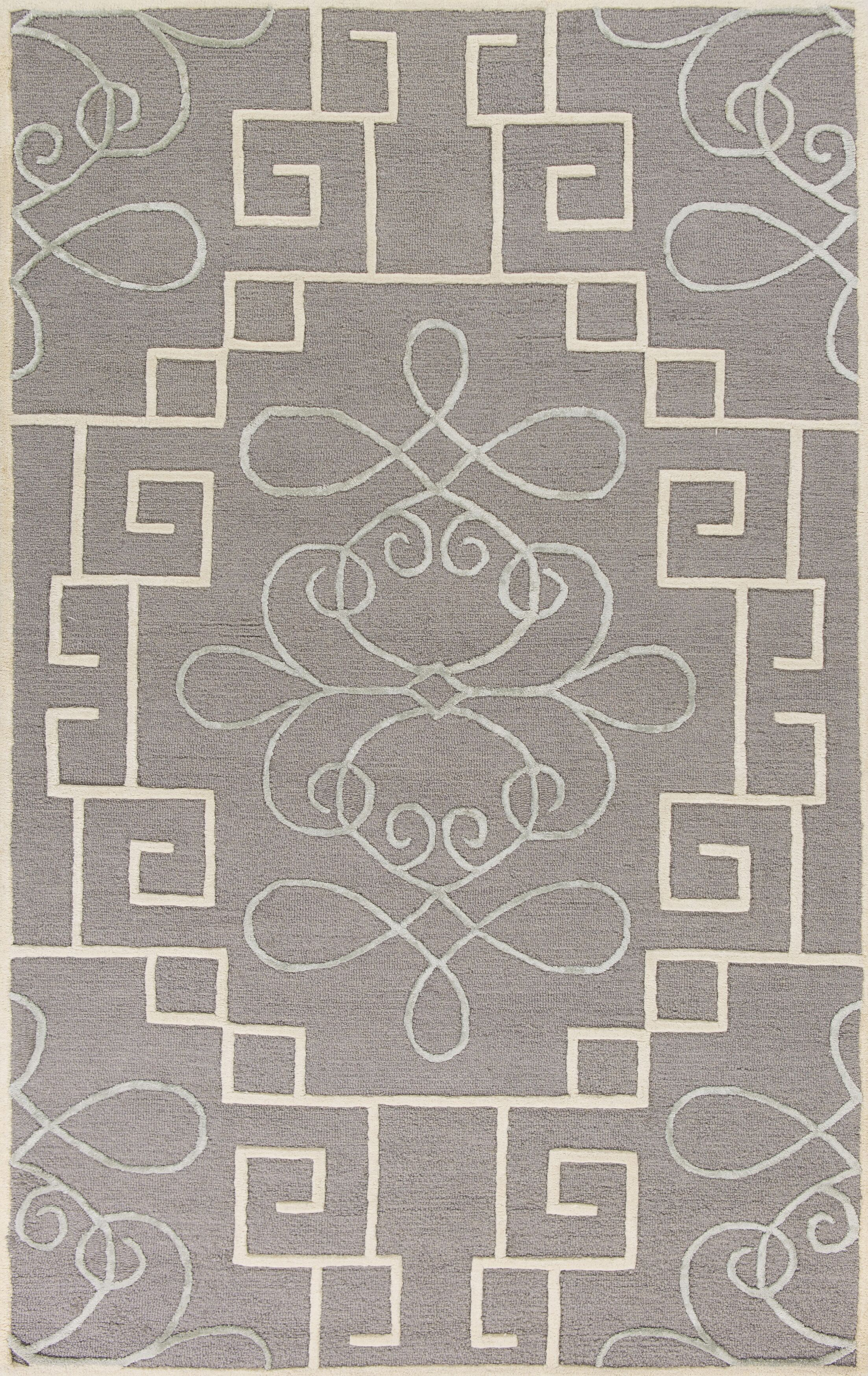 Haggerty Hand-Tufted Gray/Cream Area Rug Rug Size: Rectangle 3'3