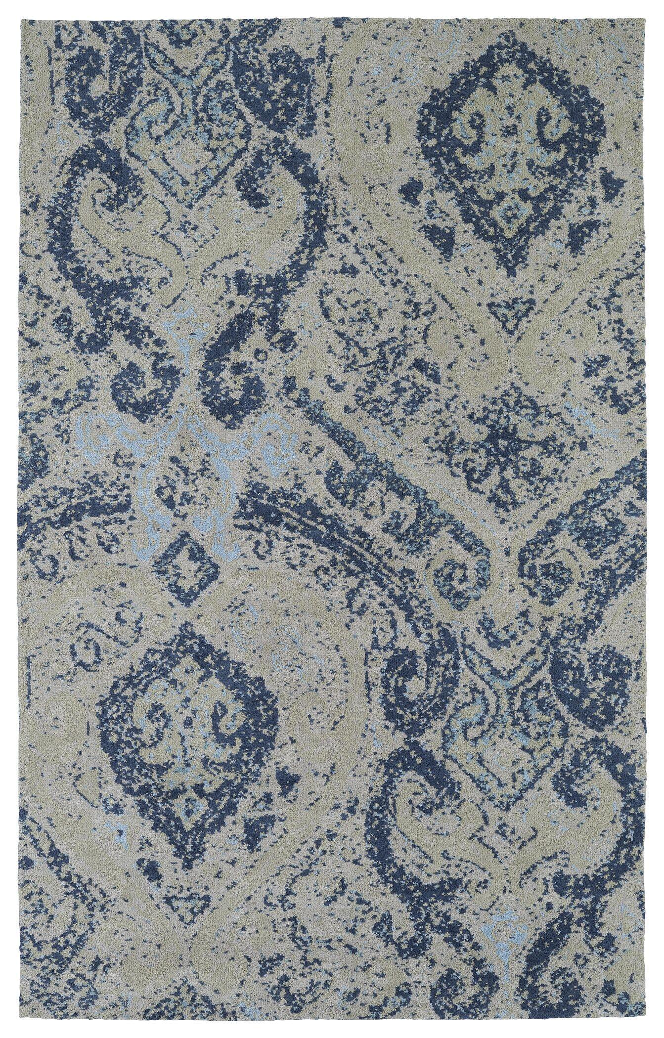 Coffman Blue Area Rug Rug Size: Rectangle 9' x 12'