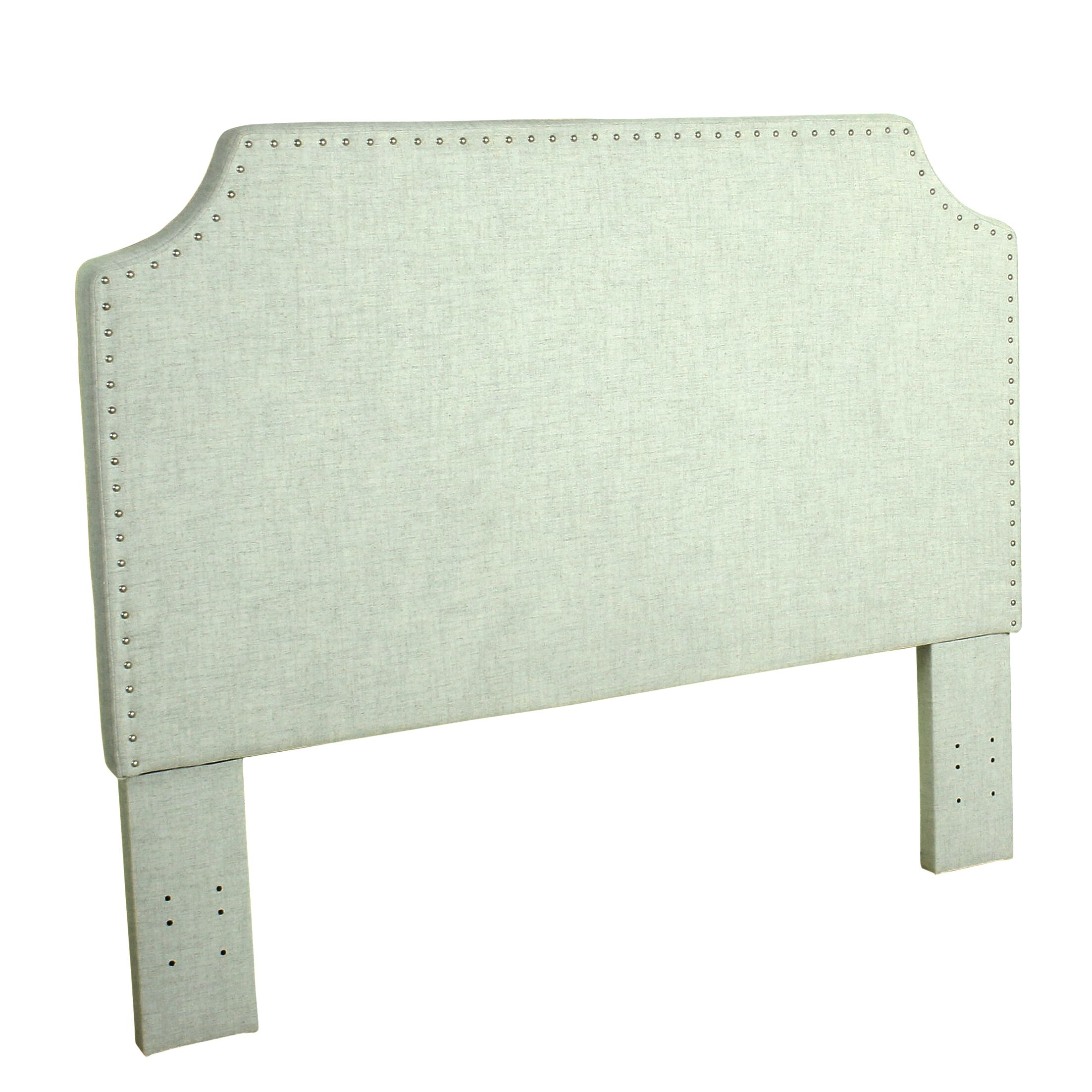 Courtemanche Upholstered Panel Headboard Color: Pale Blue