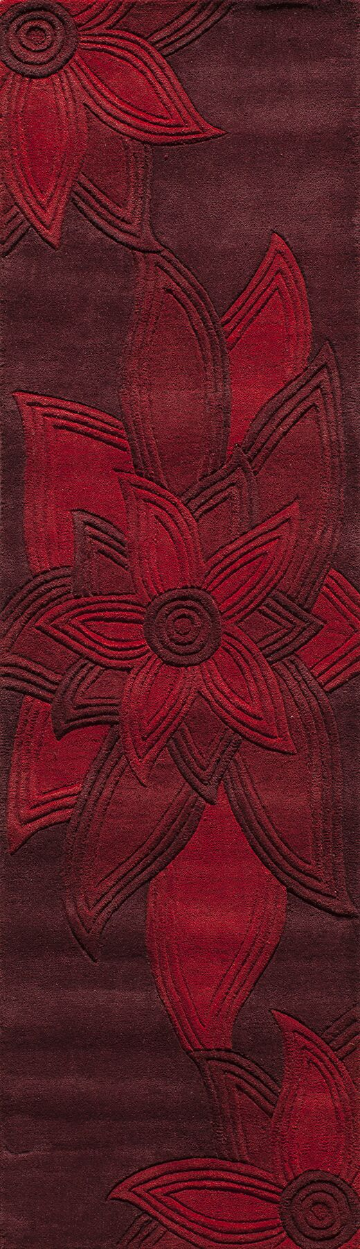 Robin Hand-Tufted Red Area Rug Rug Size: Rectangle 8' x 10'
