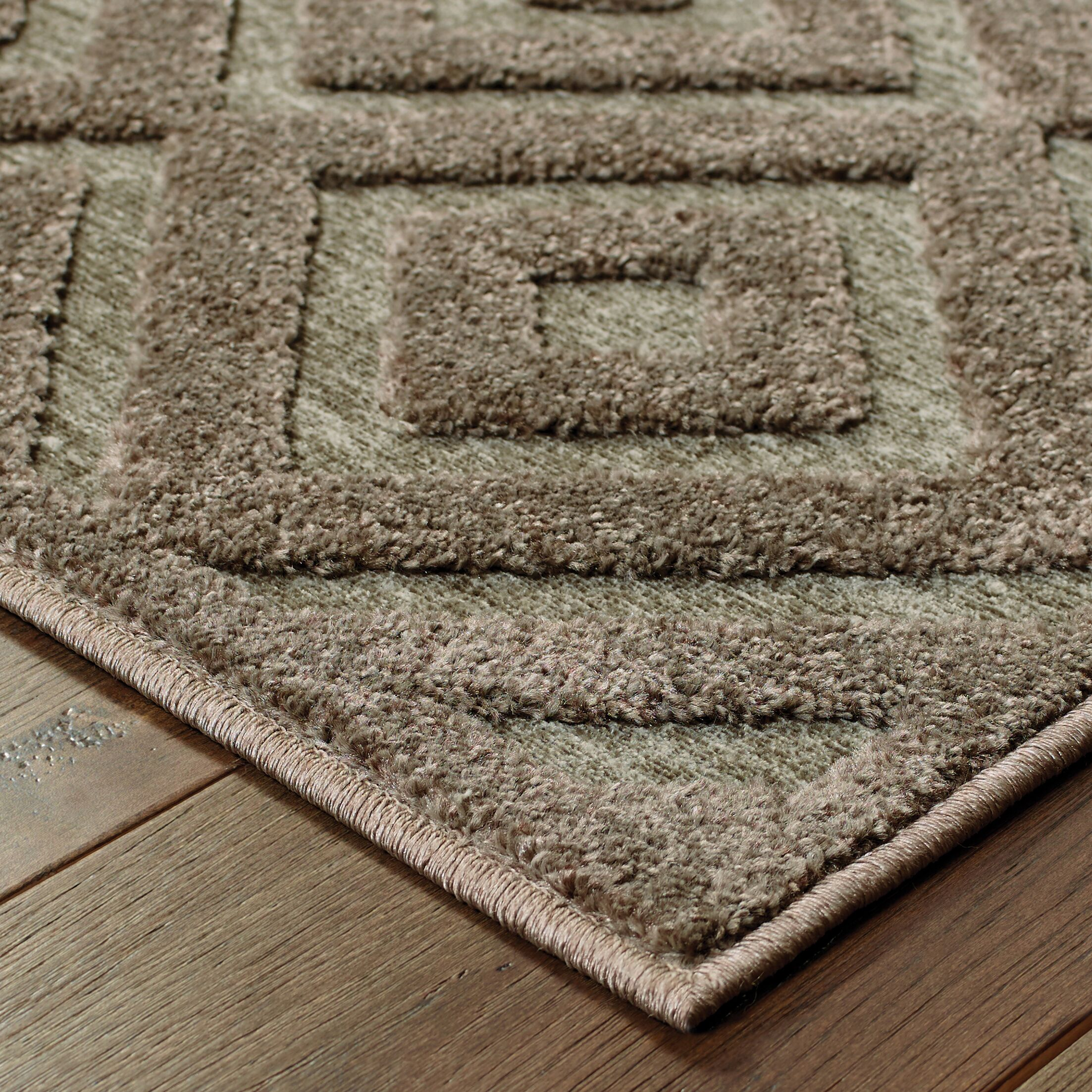 Maryport Brown/Gray Area Rug Rug Size: Rectangle 3'10