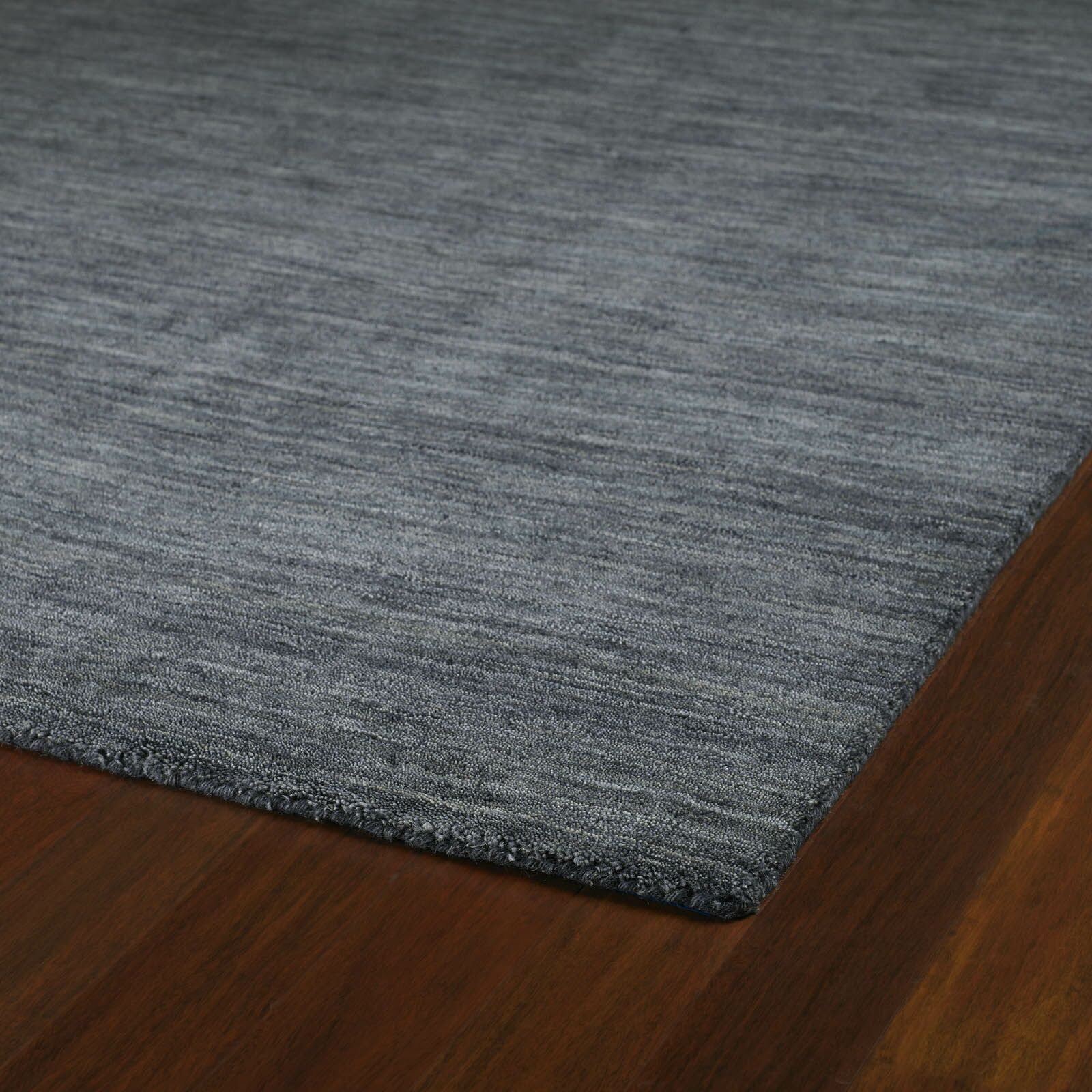 Mccabe Hand Woven Wool Gray Area Rug Rug Size: Rectangle 9'6