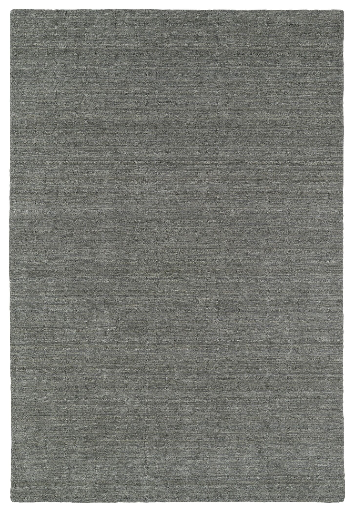 McCabe Hand-Loomed Silver Area Rug Rug Size: Rectangle 3' x 5'