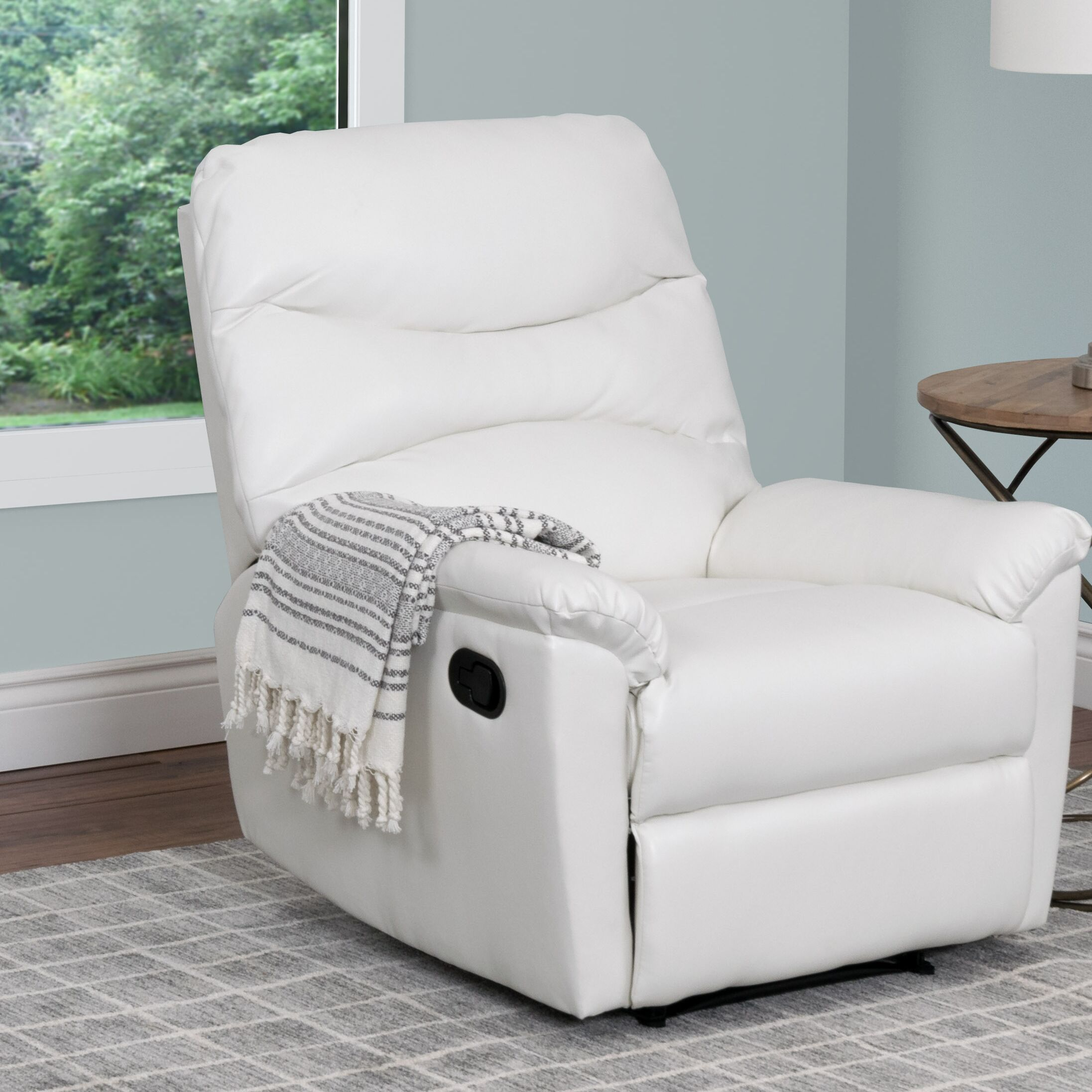 Sexton Manual Recliner Upholstery: White