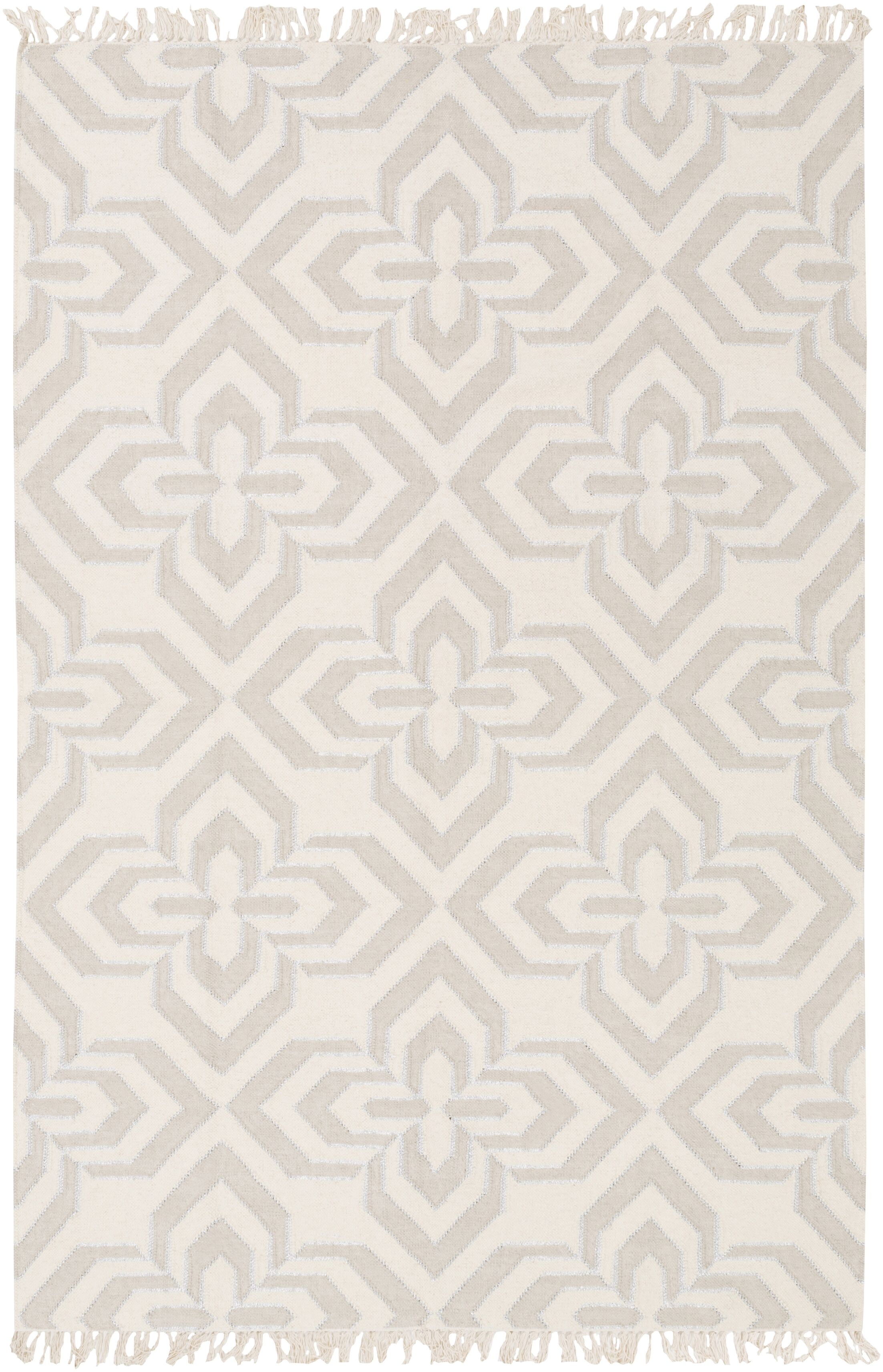 Roselawn Taupe Area Rug Rug Size: Rectangle 2' x 3'