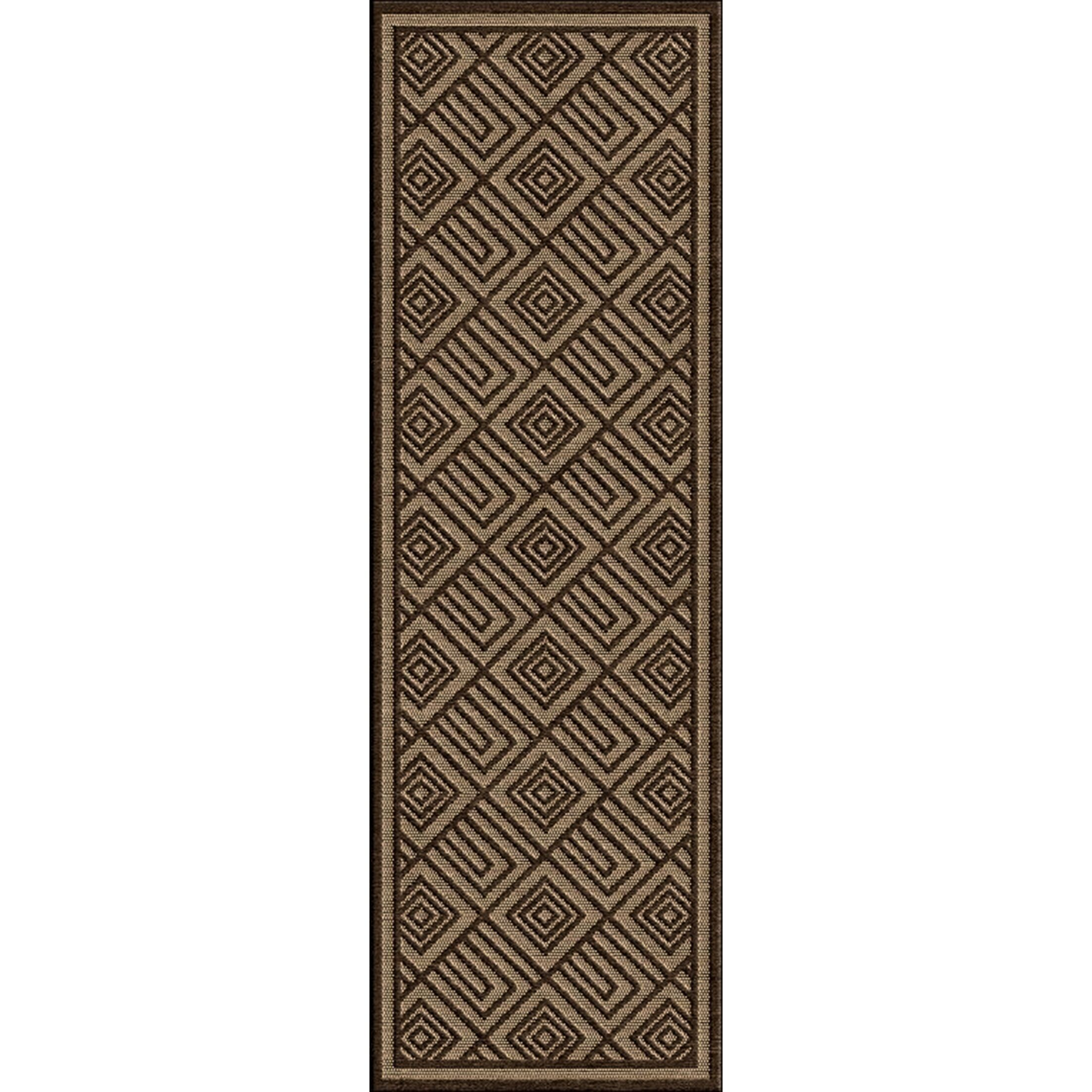 Vassar Dark Brown/Tan Indoor/Outdoor Area Rug Rug Size: Rectangle 7'10