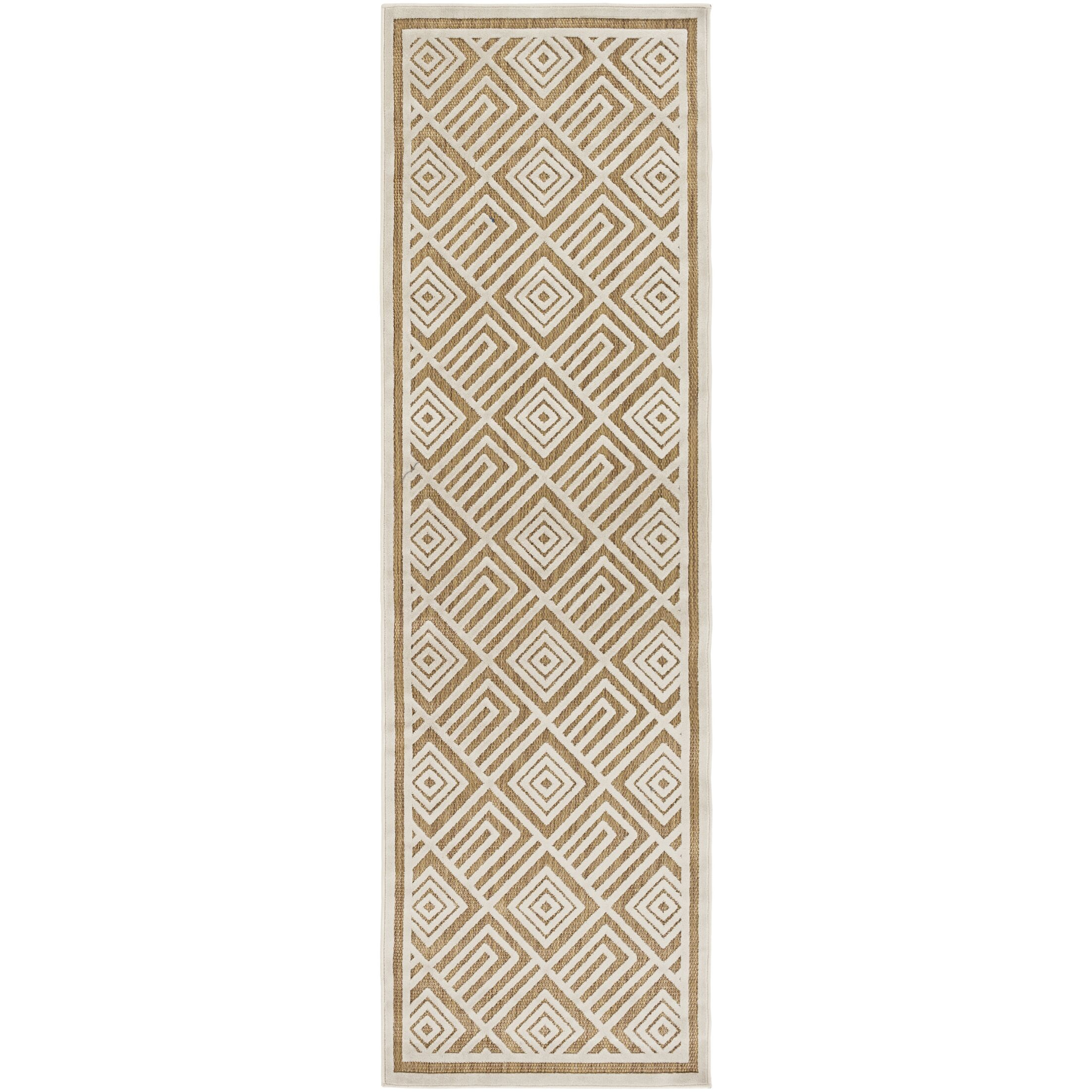 Vassar Ivory/Tan Indoor/Outdoor Area Rug Rug Size: Rectangle 8'8
