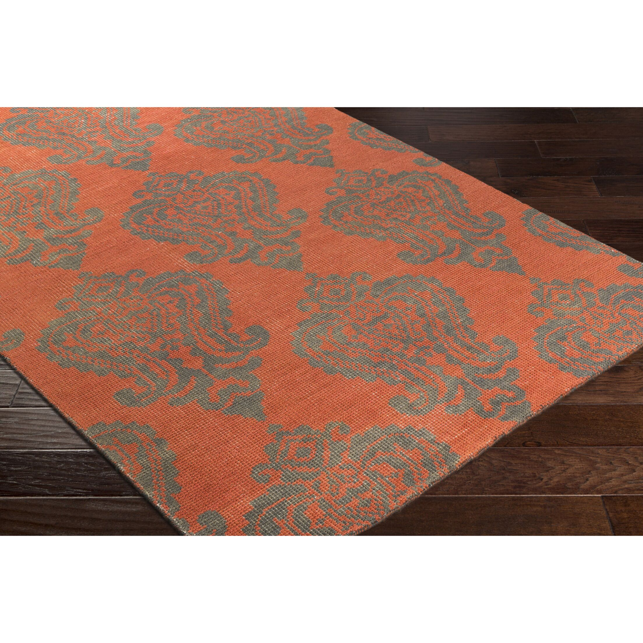 Riverview Hand-Knotted Blue/Green Area Rug Rug Size: Rectangle 2' x 3'