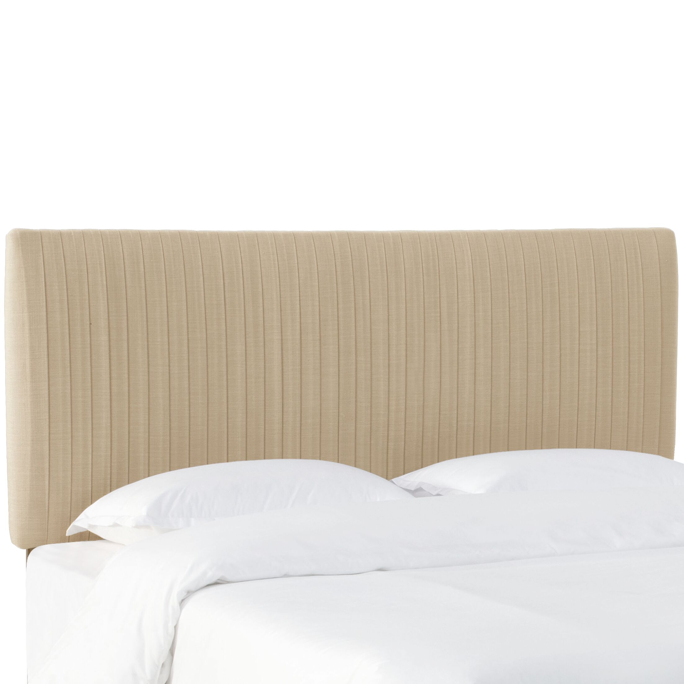 Sanford Pleated Upholstered Panel Headboard Size: Twin, Upholstery: Sandstone