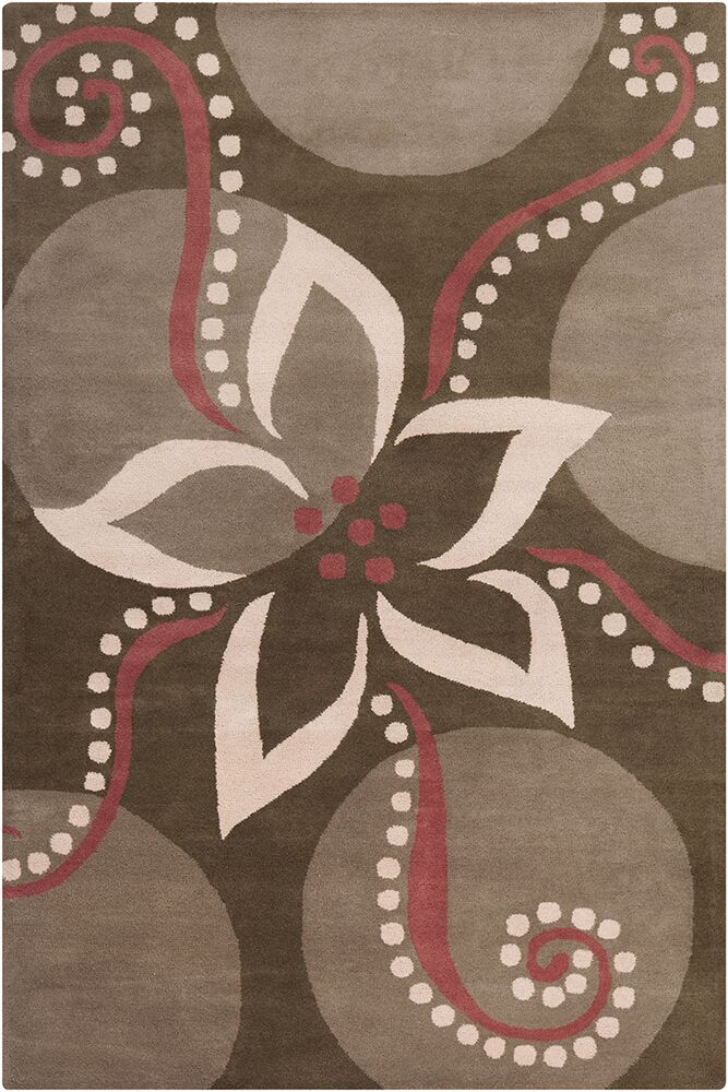 Willow Hand Tufted Wool Brown/Pink Area Rug