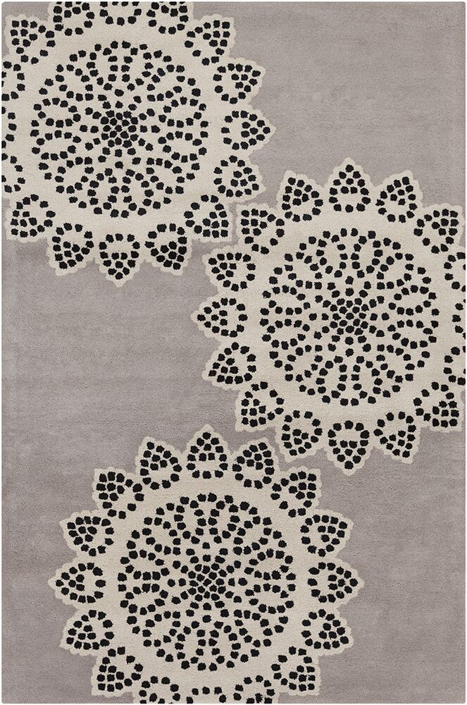 Willow Hand Tufted Wool Taupe/Black Area Rug Rug Size: 8' x 10'