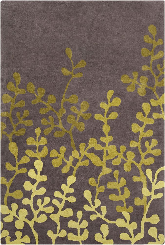 Willow Hand Tufted Wool Brown/Green Area Rug Rug Size: 8' x 10'