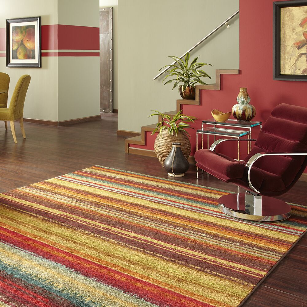 Ayers Village Brown/Yellow Area Rug Rug Size: Rectangle 5' x 8'