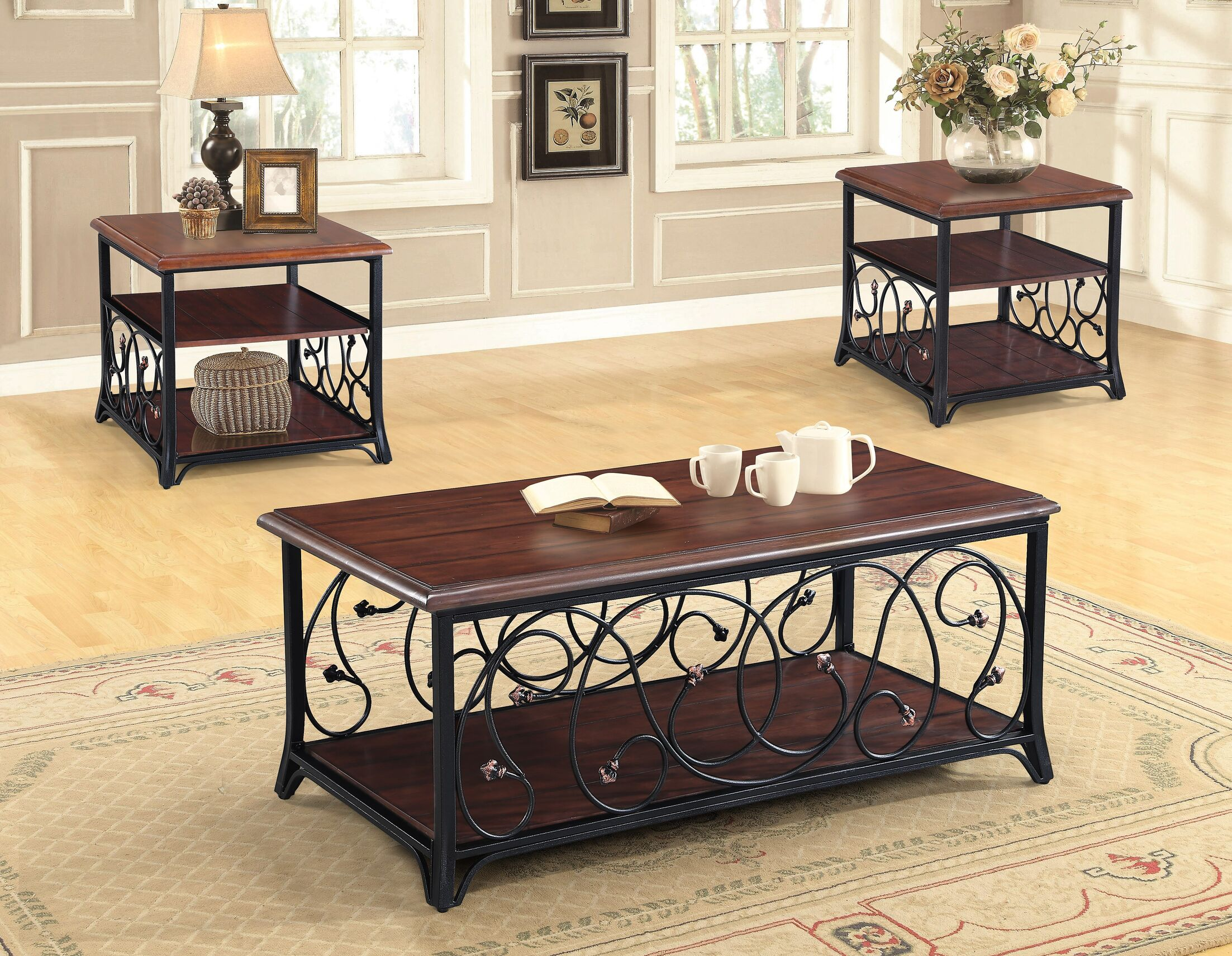 Asner 3 Piece Coffee Table Set