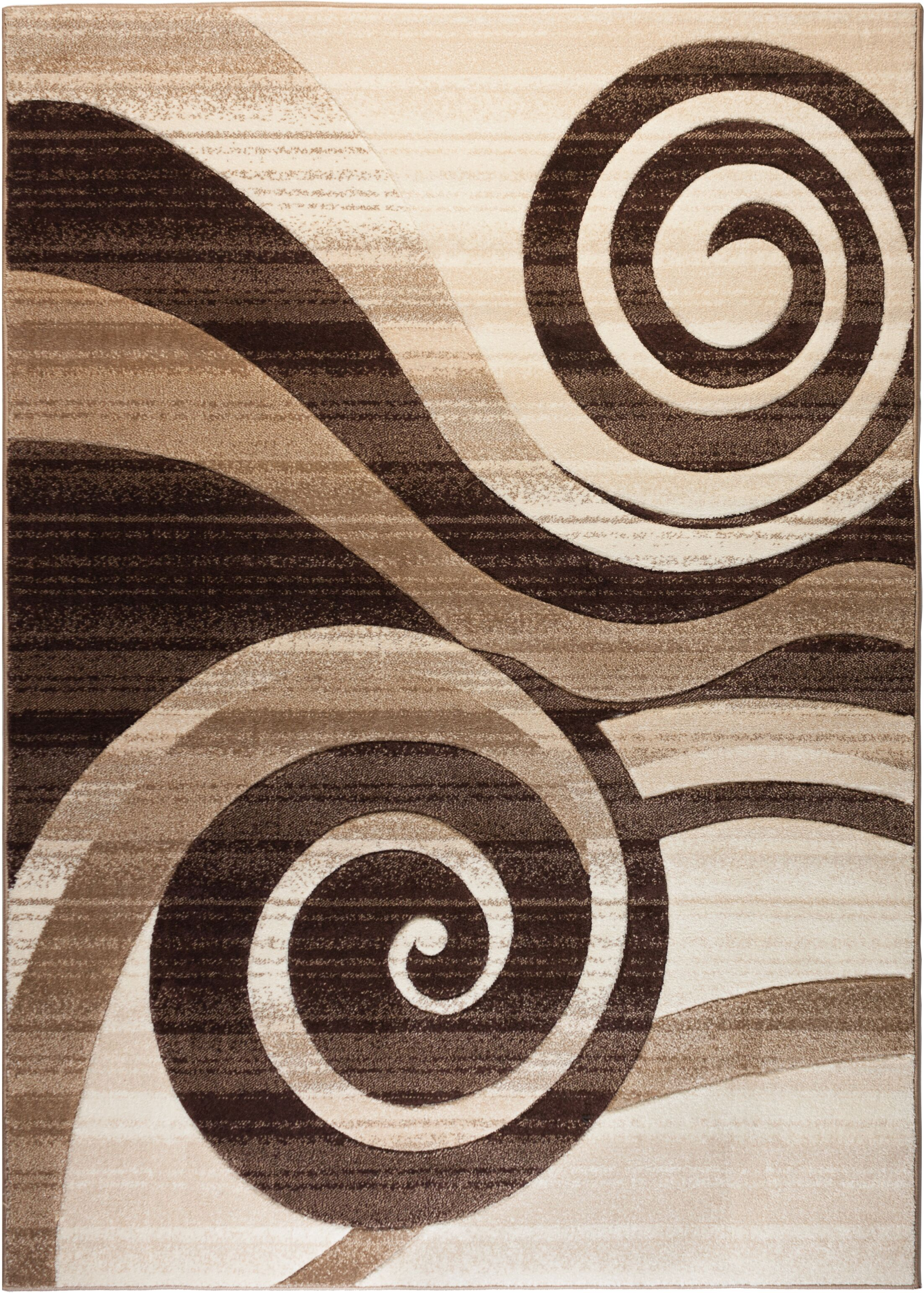 Mickel Whirlwind Brown Area Rug Rug Size: Rectangle 9'3'' x 12'6''