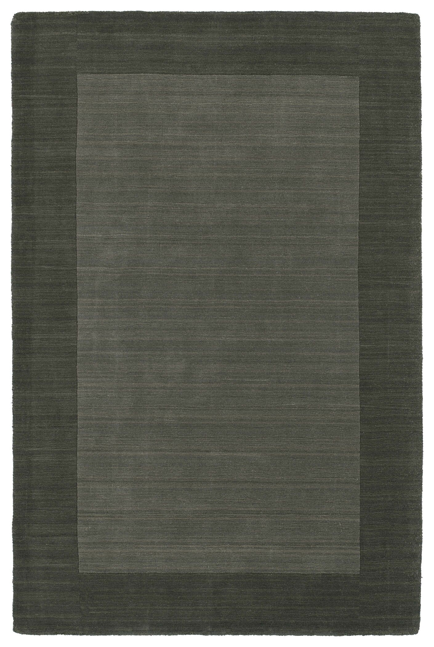 Attles Solid Charcoal Area Rug Rug Size: Rectangle 3'6