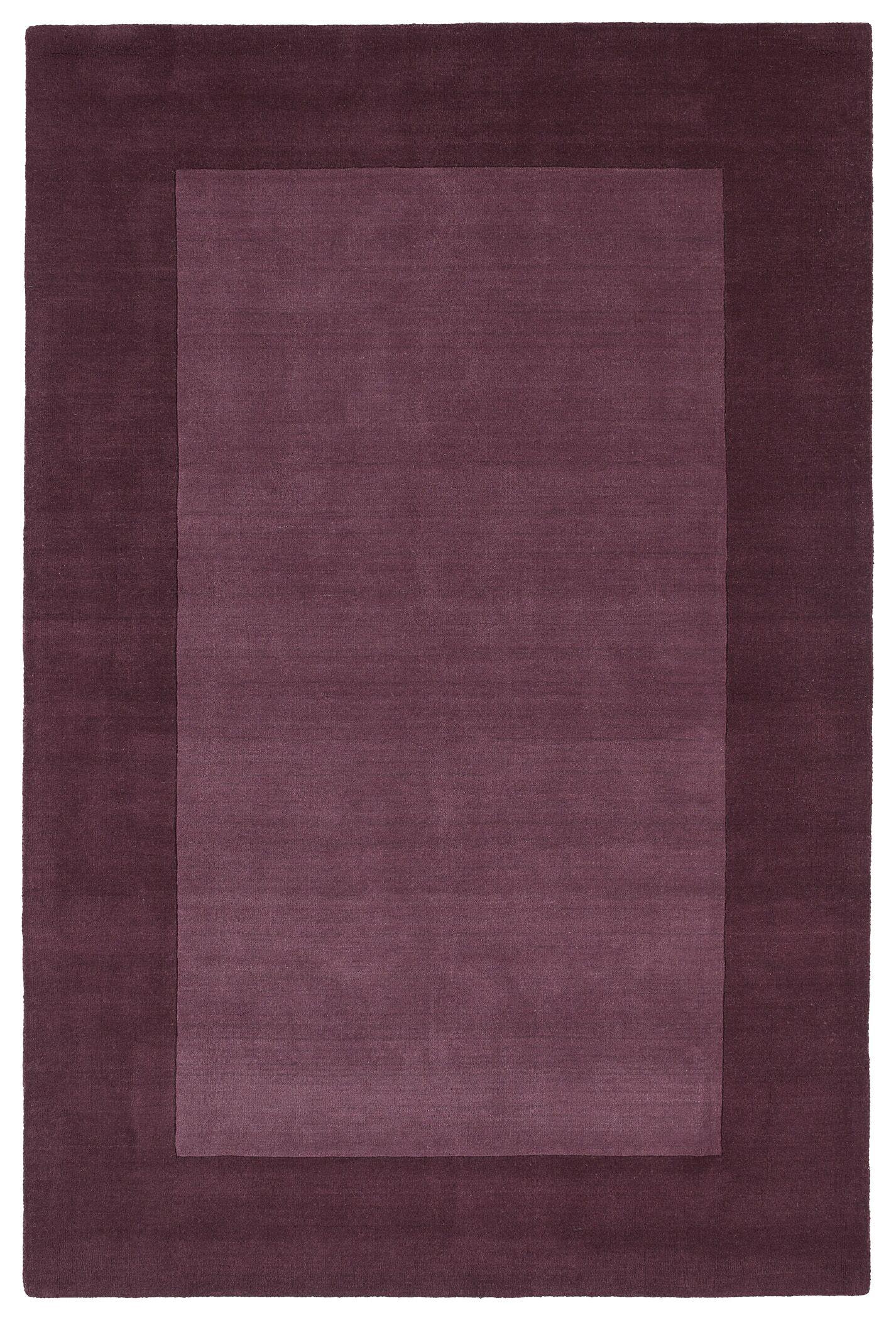 Barnard Hand Tufted Purple Area Rug Rug Size: Rectangle 5' x 7'9