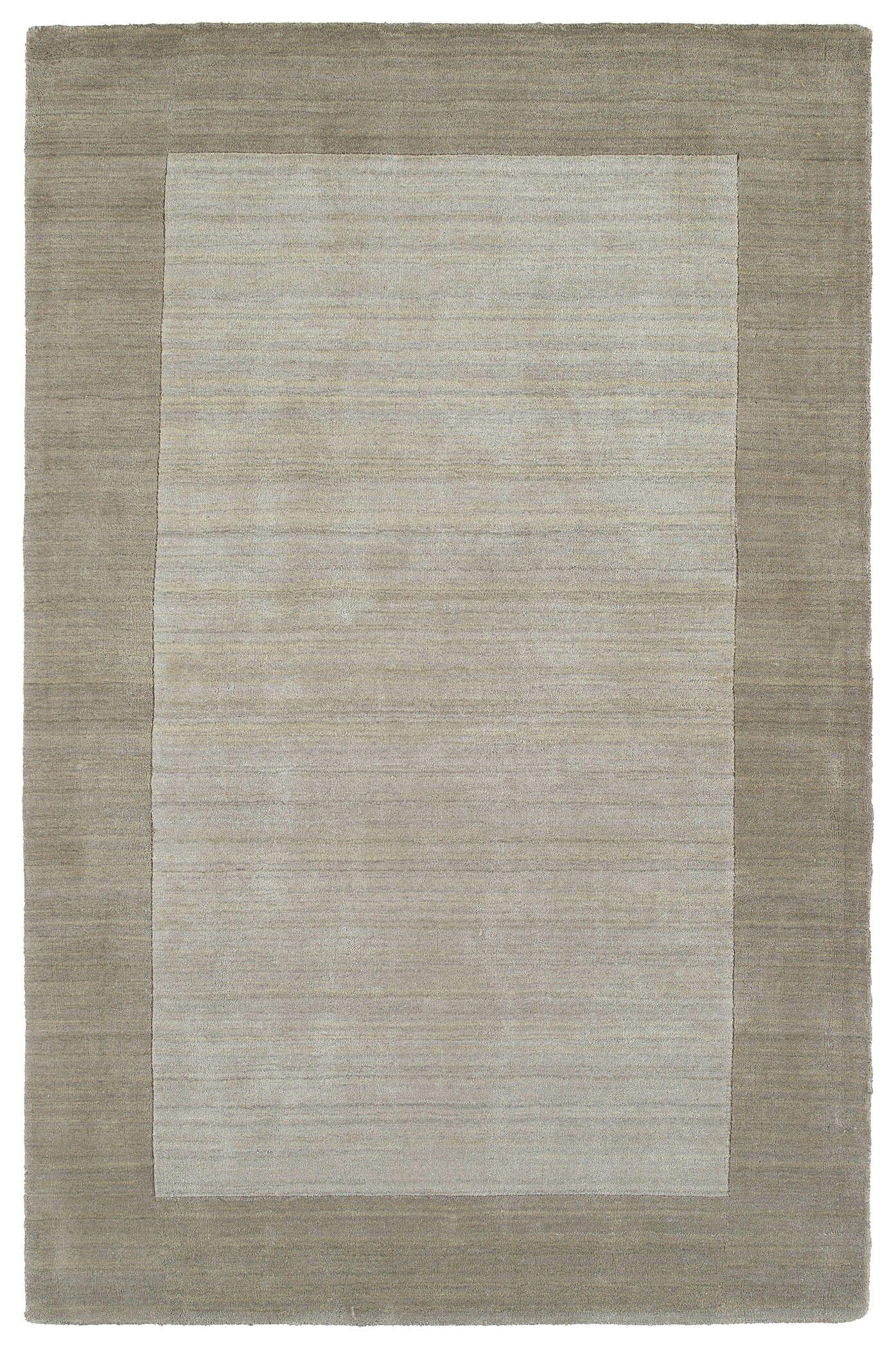 Barnard Hand Woven Wool Ivory/Beige Area Rug Rug Size: Rectangle 5' x 7'9