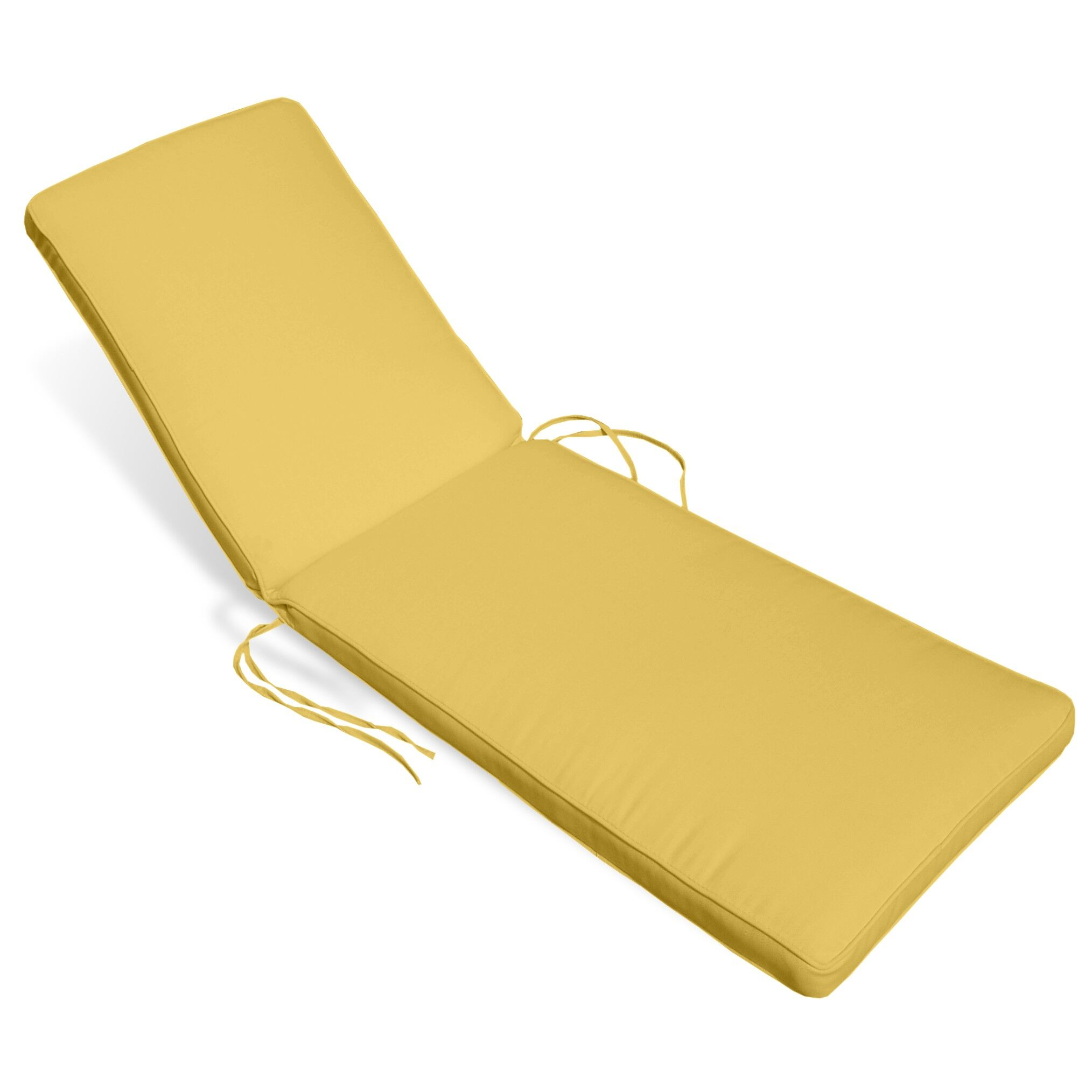 Snake River Indoor/Outdoor Sunbrella Chaise Lounge Cushion Fabric: Buttercup