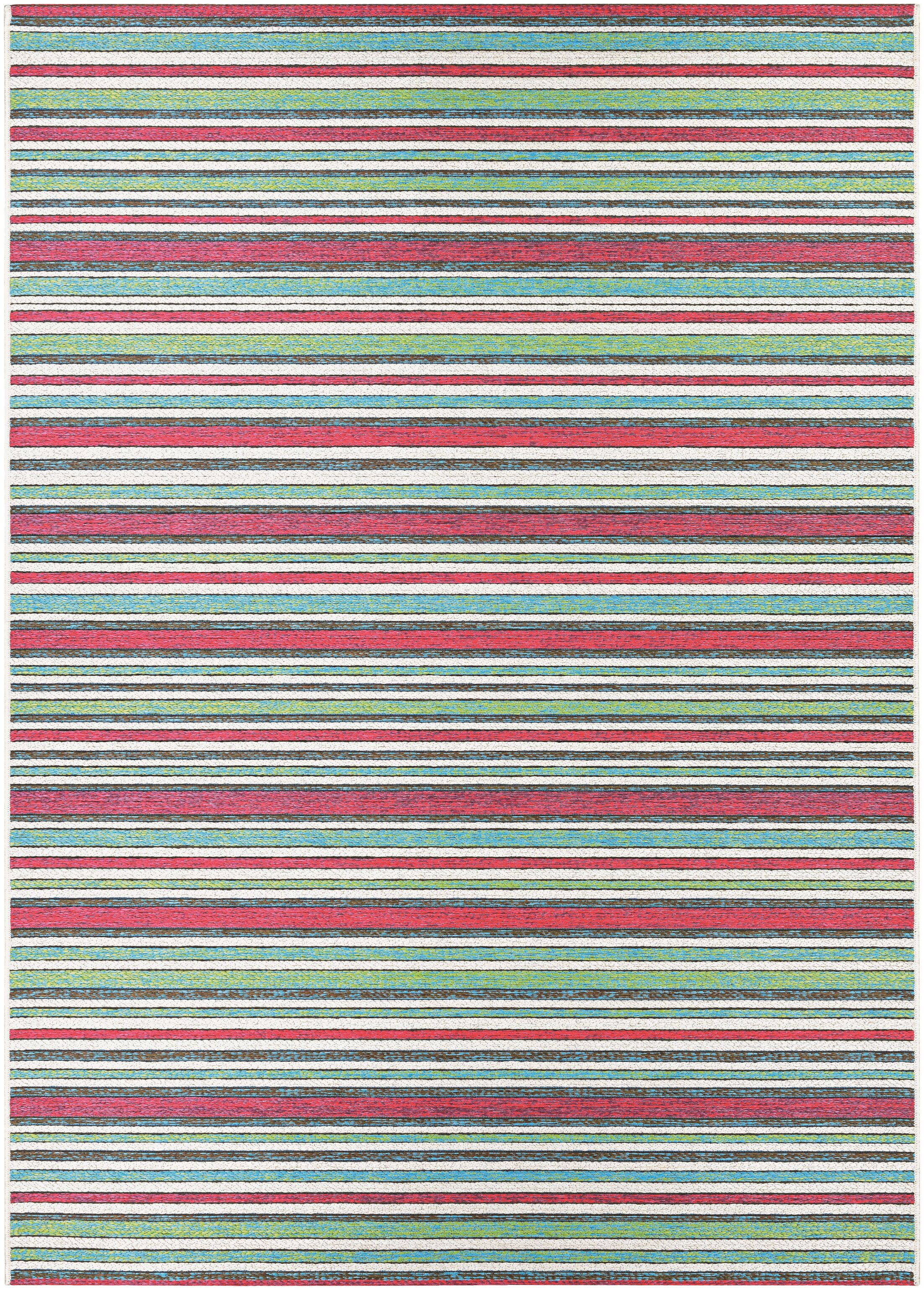 Colesberry Pink/Green Indoor/Outdoor Area Rug Rug Size: Rectangle 6'6