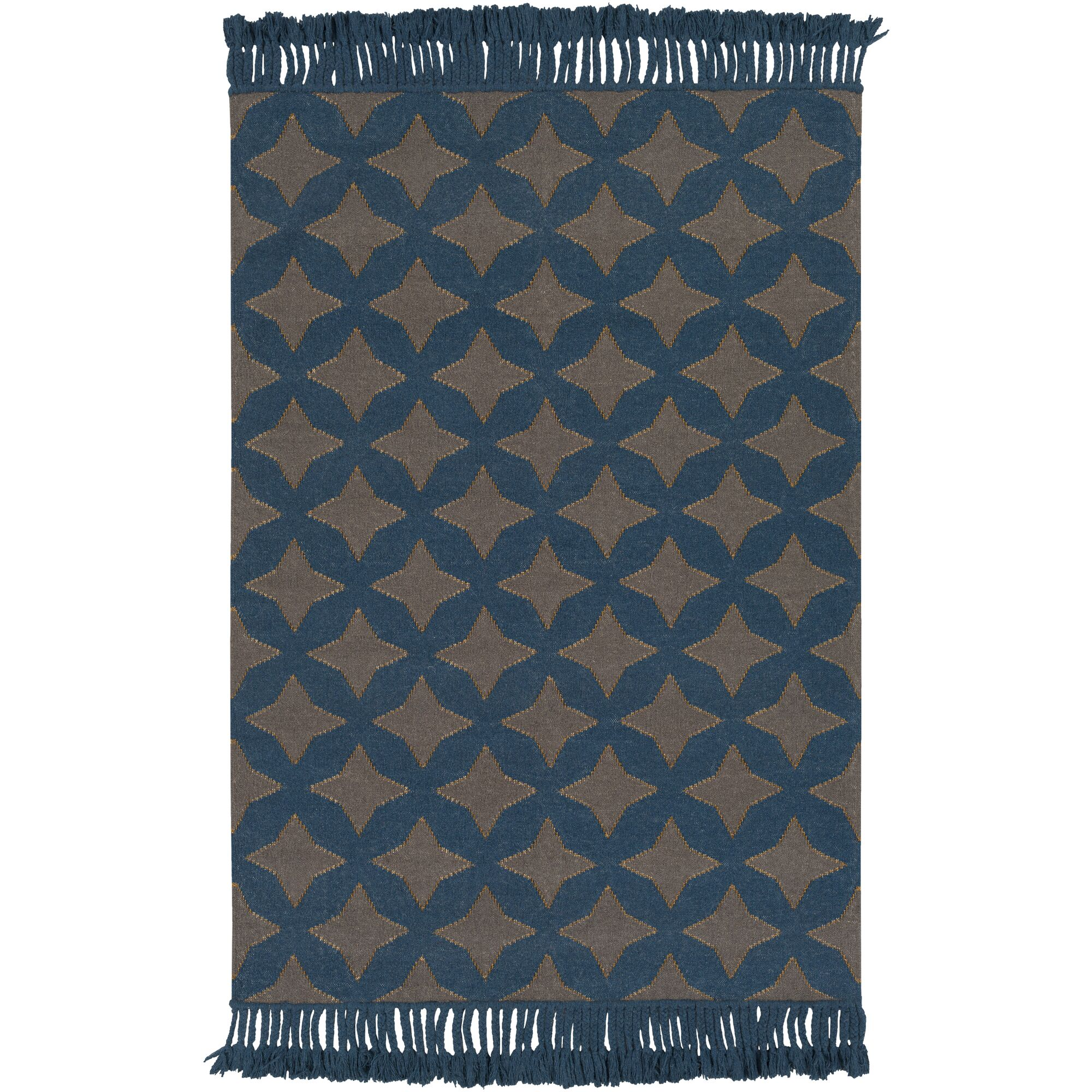 Roselawn Charcoal Area Rug Rug Size: Rectangle 5' x 7'6