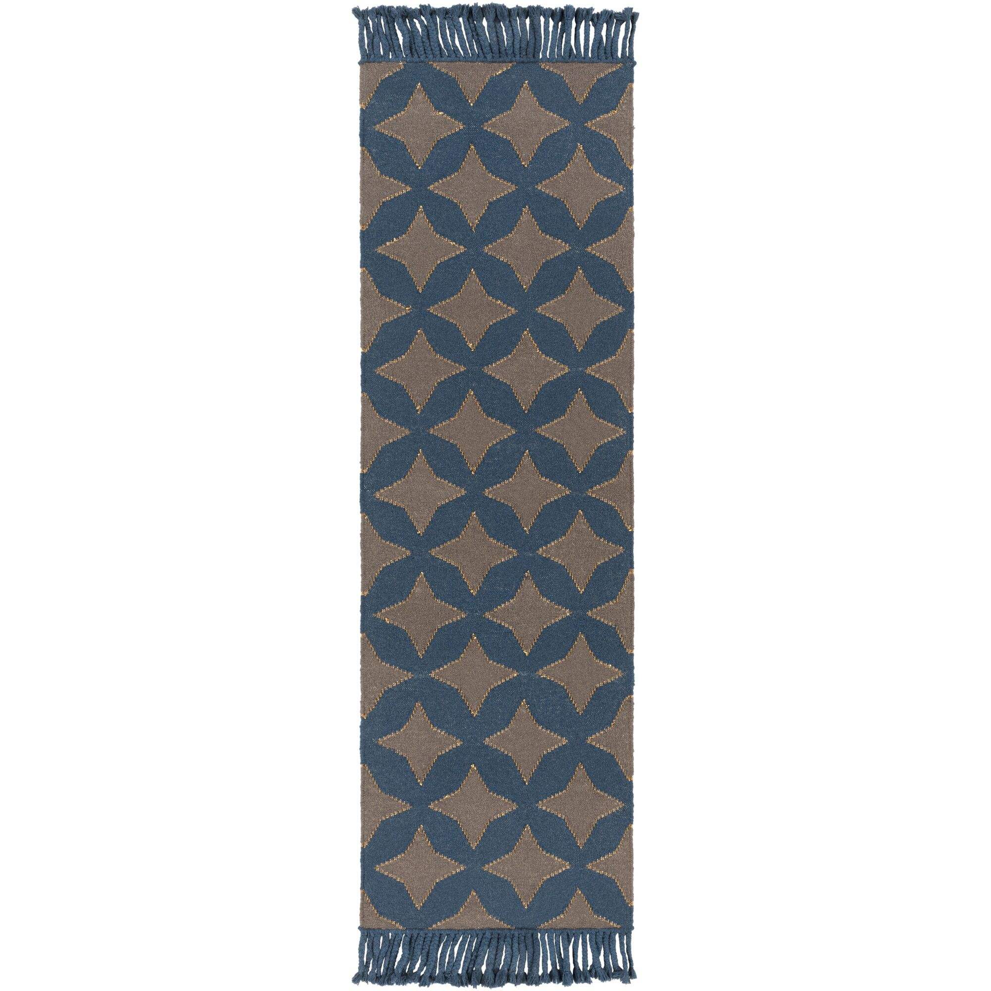 Roselawn Charcoal Area Rug Rug Size: Runner 2'6