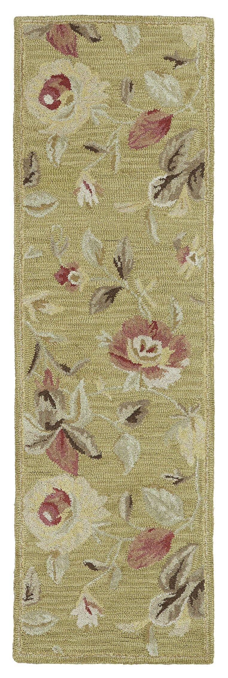 Blakeslee Olive Floral Rug Rug Size: Rectangle 9'6