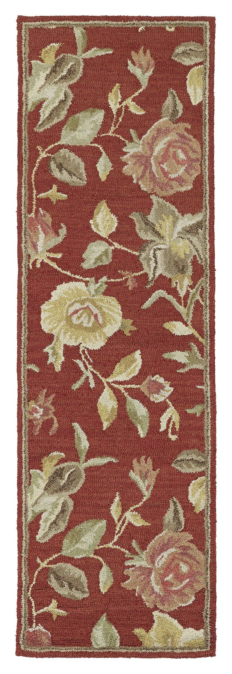 Blakeslee Red Floral Rug Rug Size: Rectangle 3' x 5'