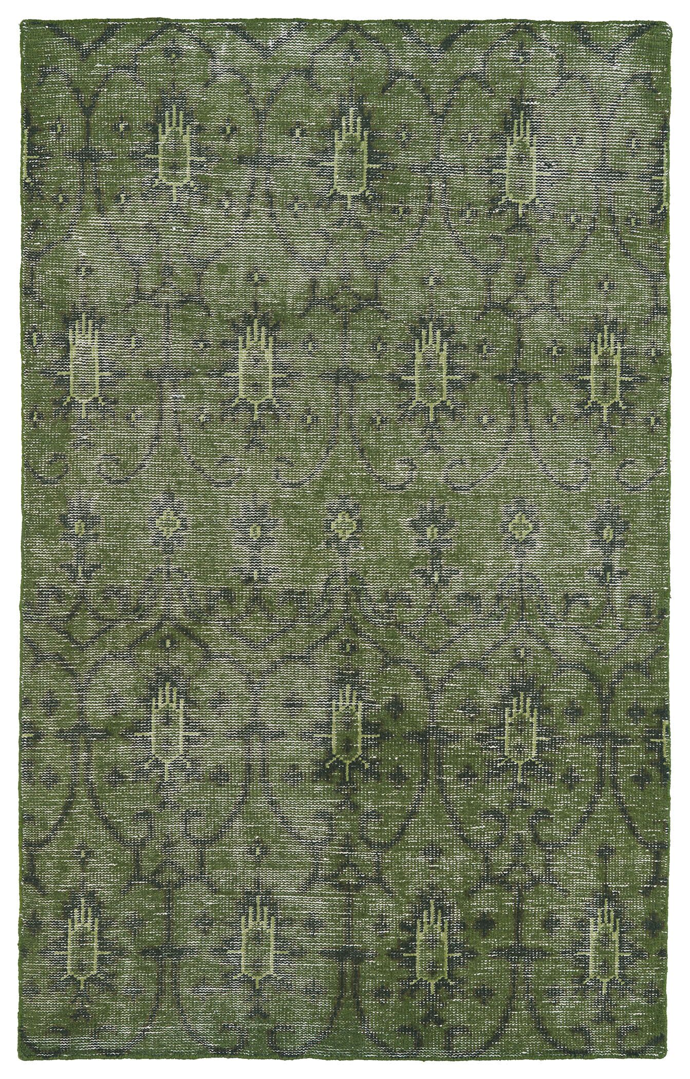 Plattville Green Area Rug Rug Size: 5'6