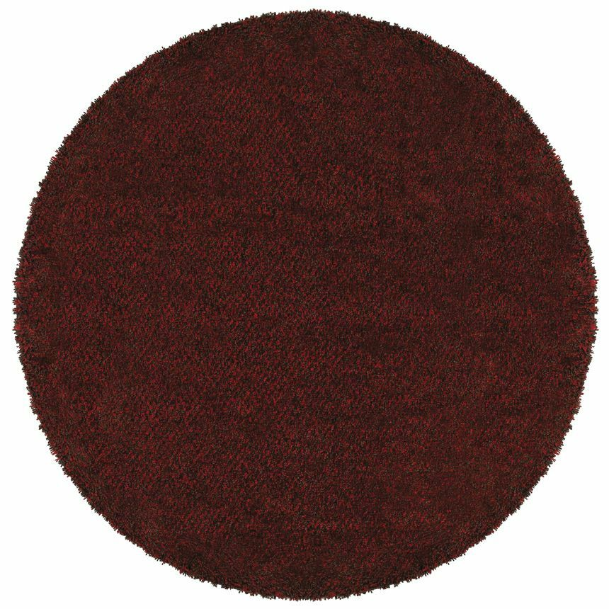 Mazon Tweed Red/Brown Area Rug Rug Size: Round 6'